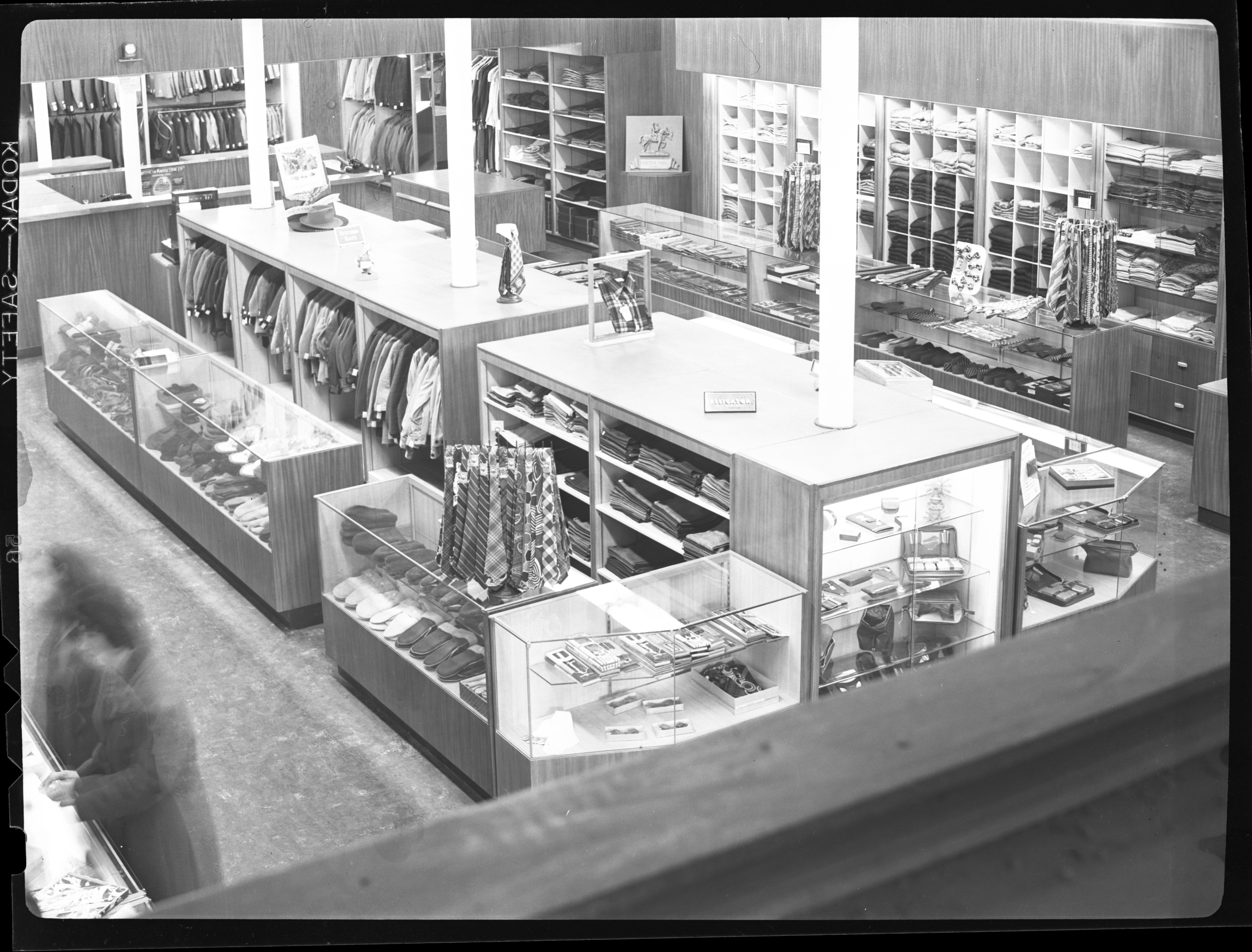 Interior of Fiegel's Clothing Store, March 1946 image