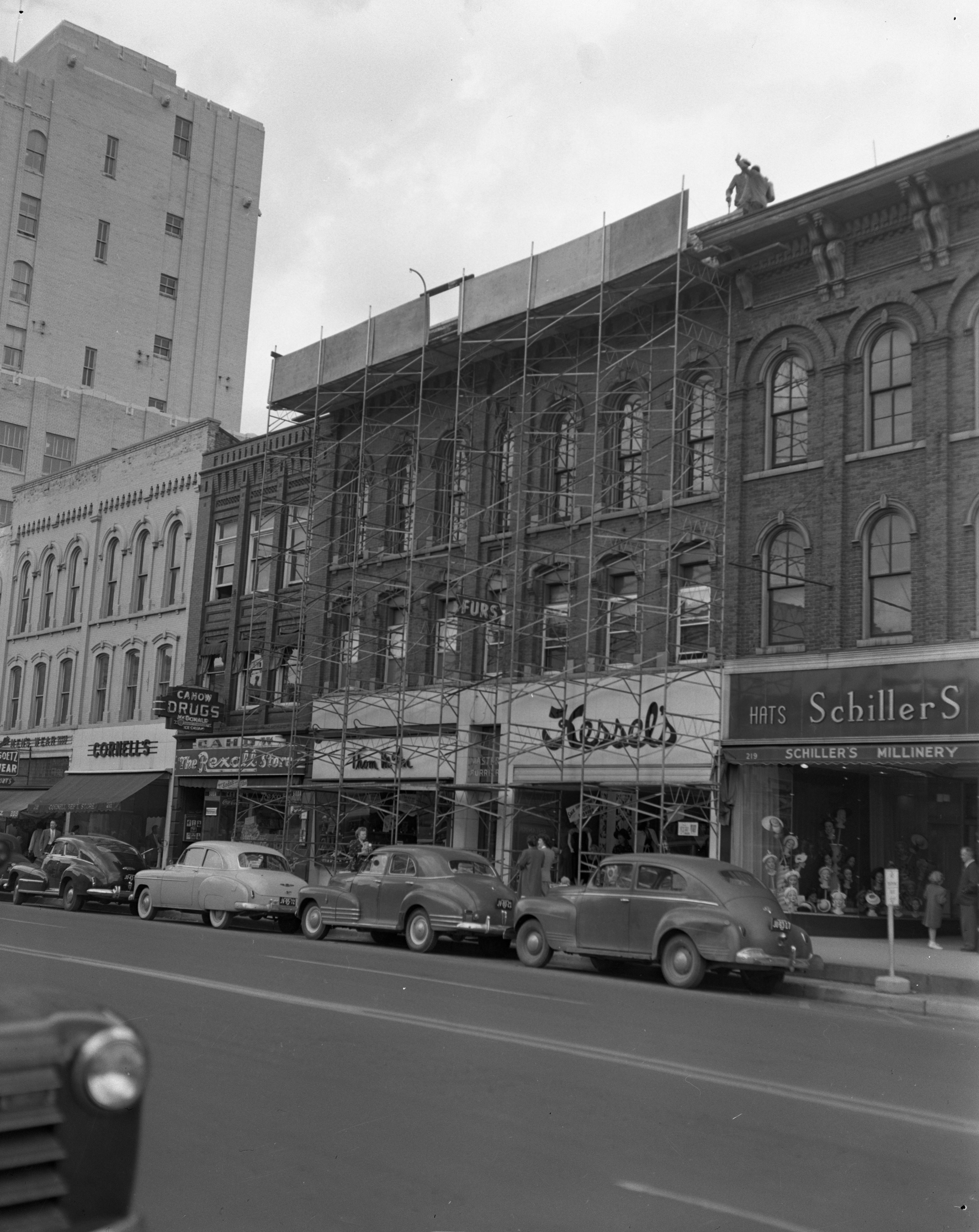 Kessel's Store Front Gets Remodeled, May 1949 image