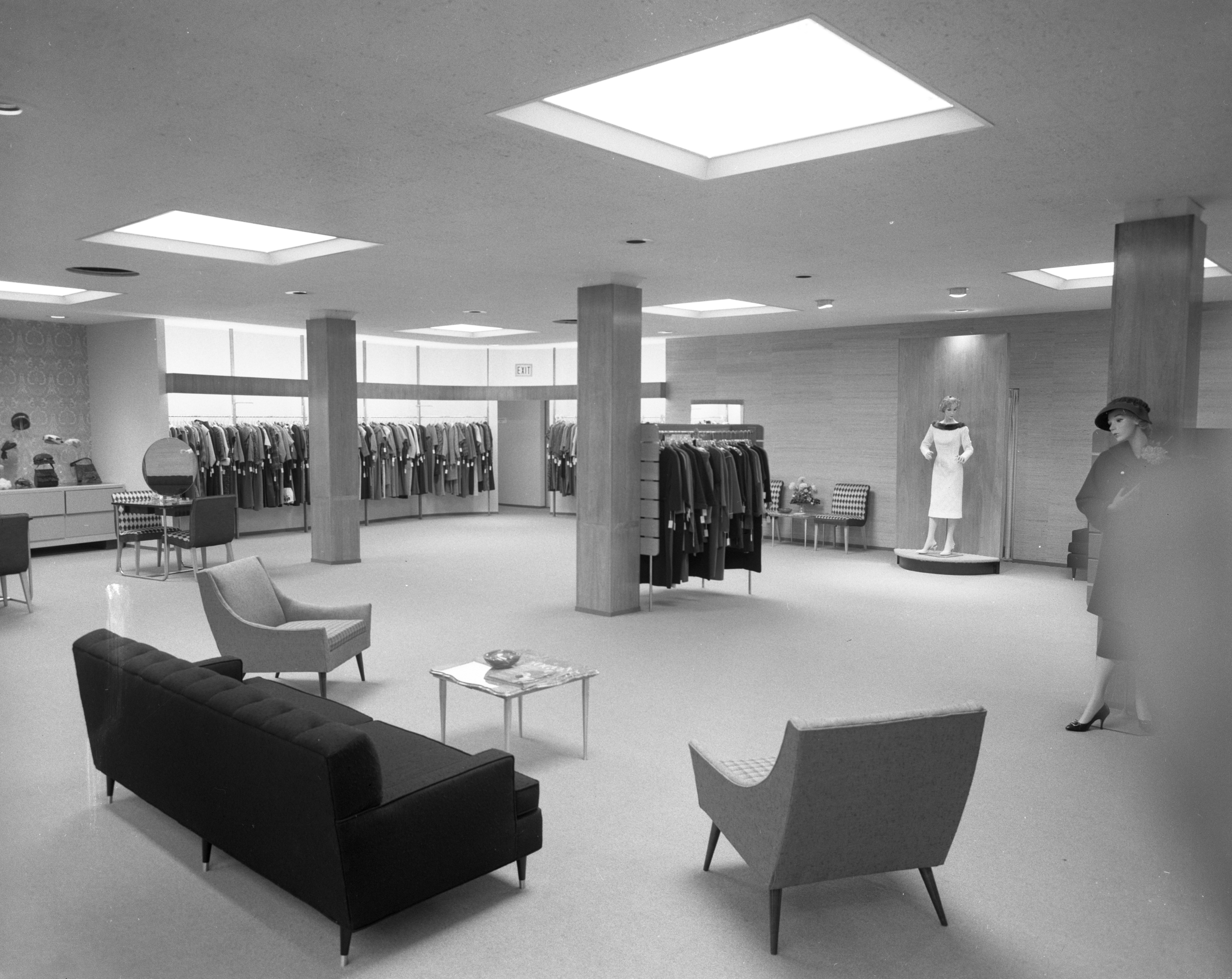 Sales space added to Jacobson's, 612 E. Liberty, October 1958 image