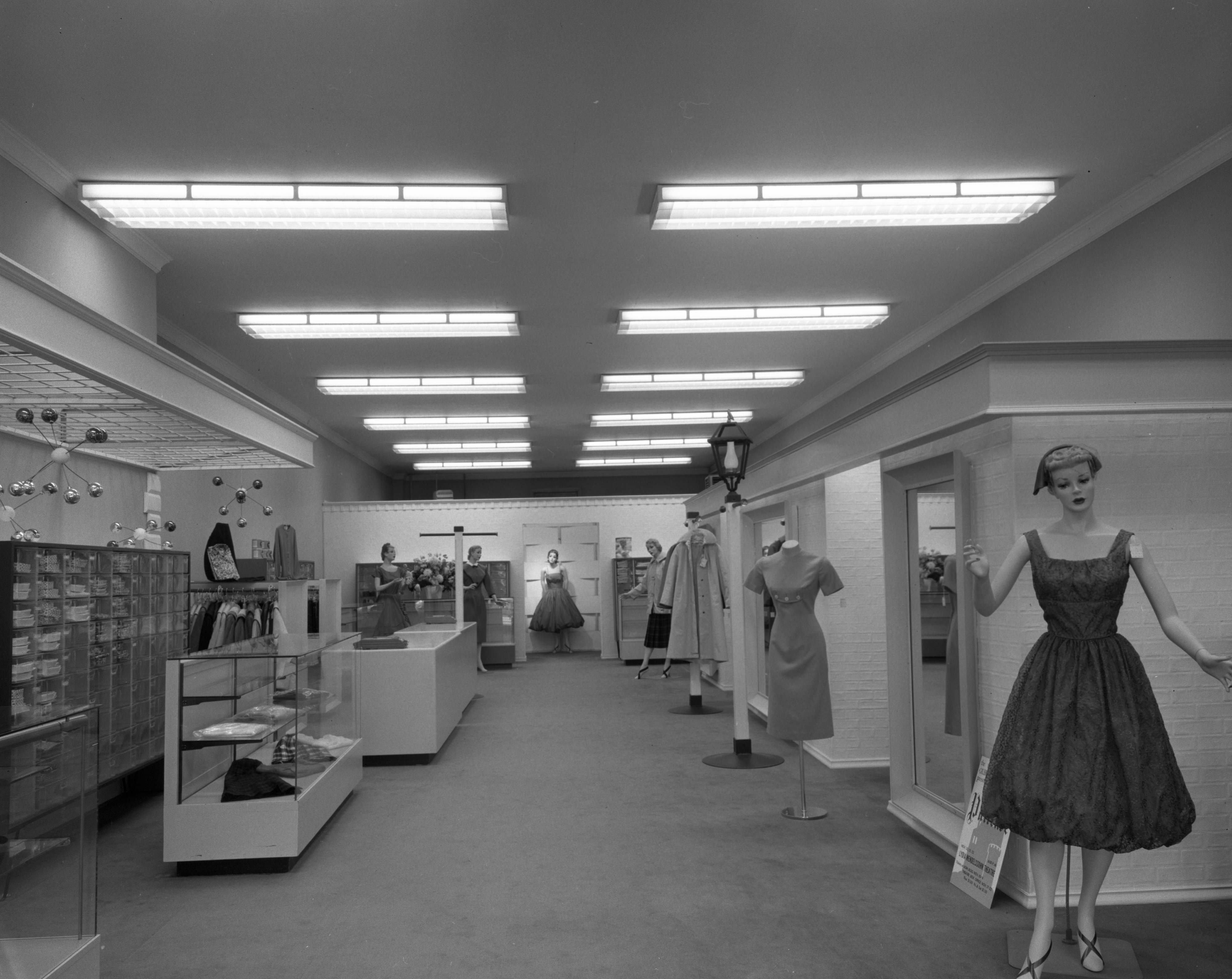 Interior of newly decorated Cousins Shop, November 1958 image