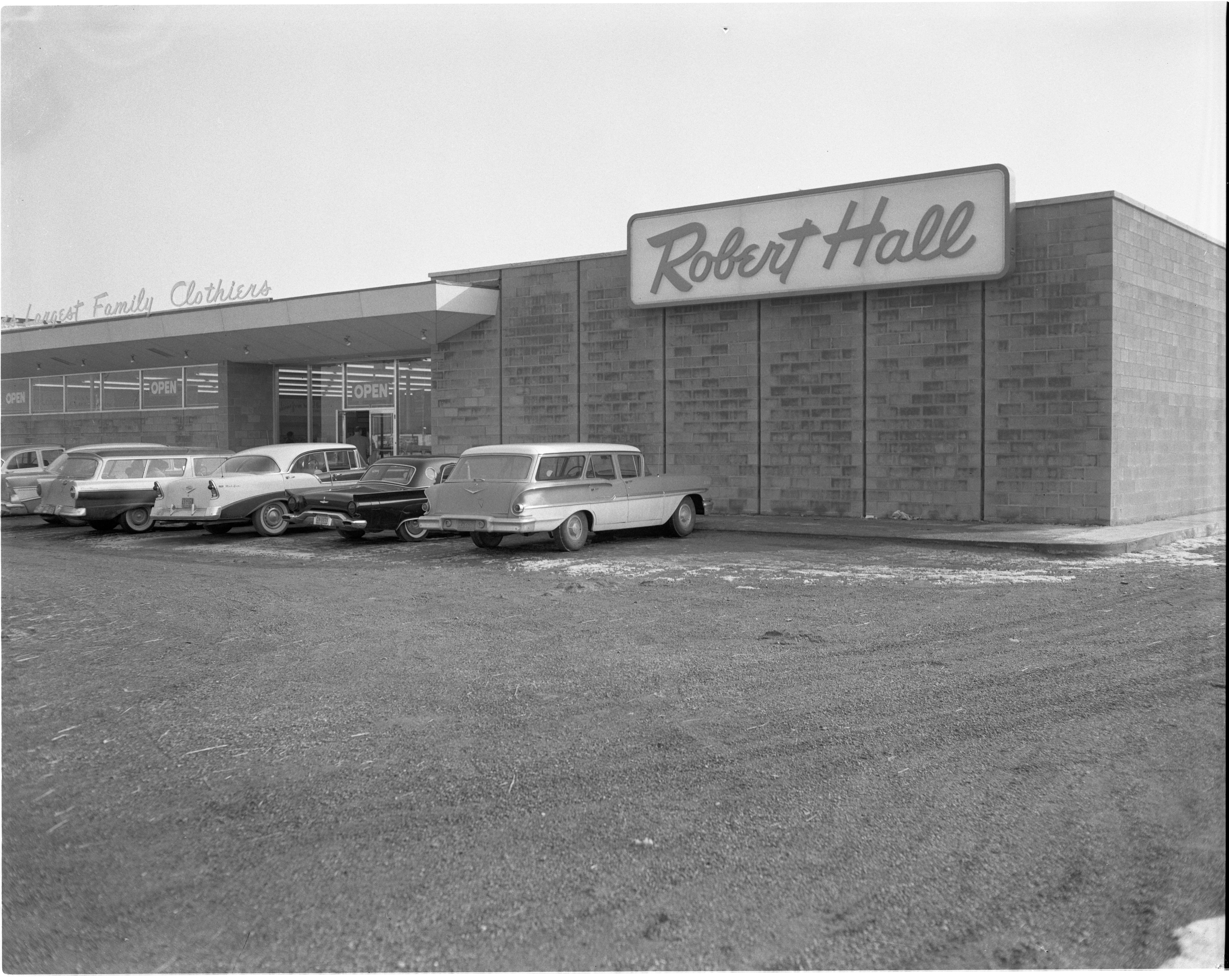 Exterior Of Newly Opened Robert Hall Clothes Store, February 1959 image