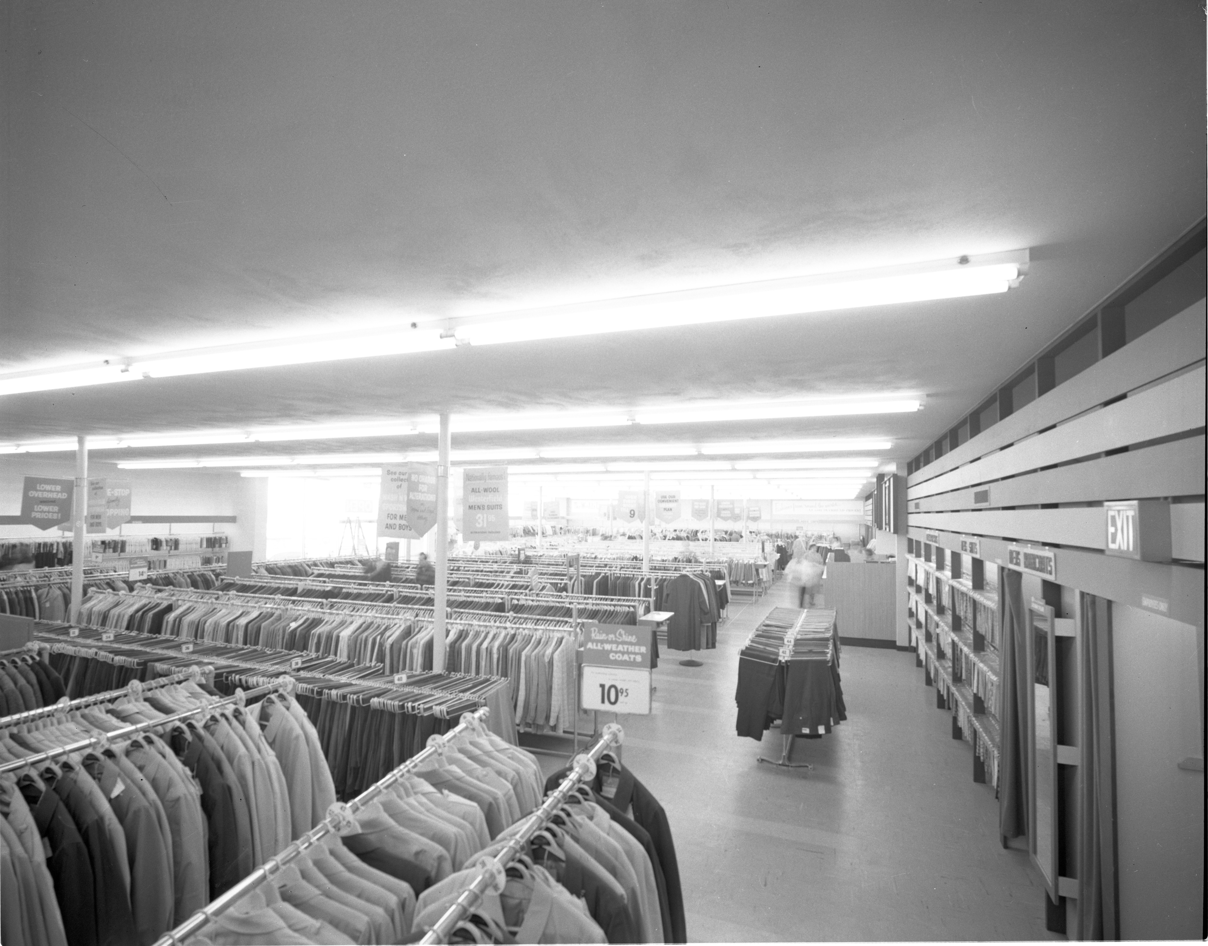 Interior Of Newly Opened Robert Hall Clothes Store, February 1959 image