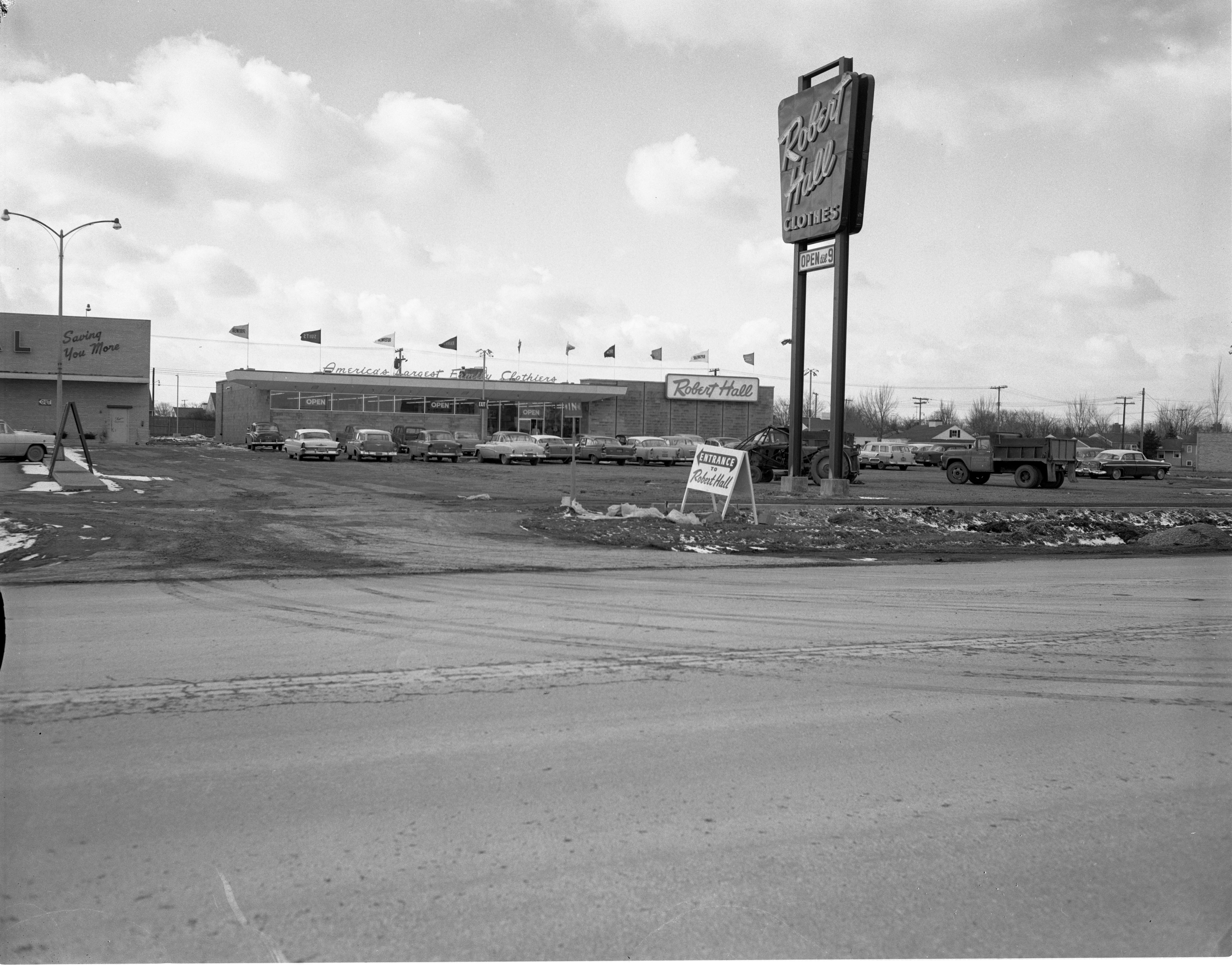 Exterior Of Robert Hall Clothes Store, March 1959 image