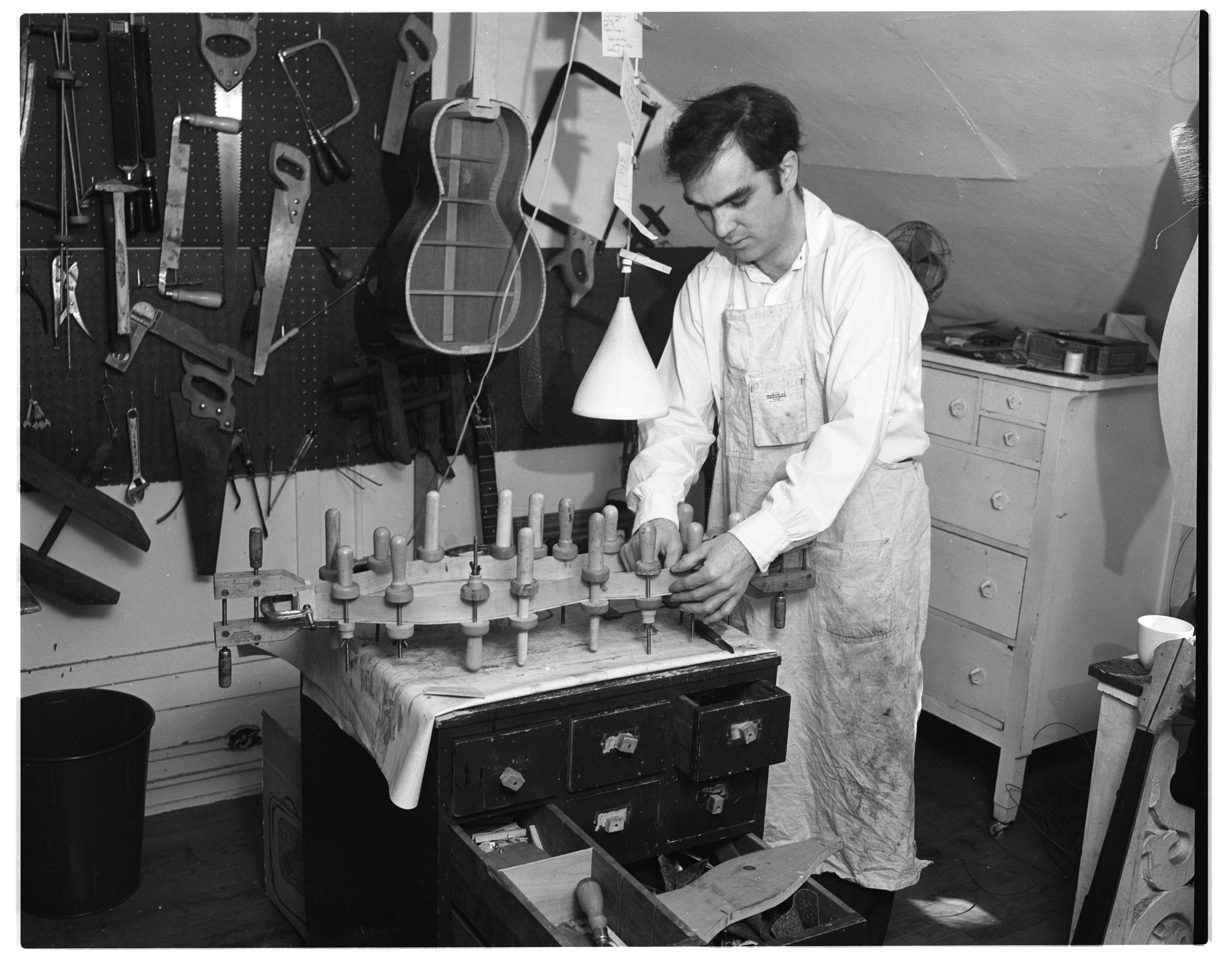 Herb David Builds An Appalachian Dulcimer, March 1963 image