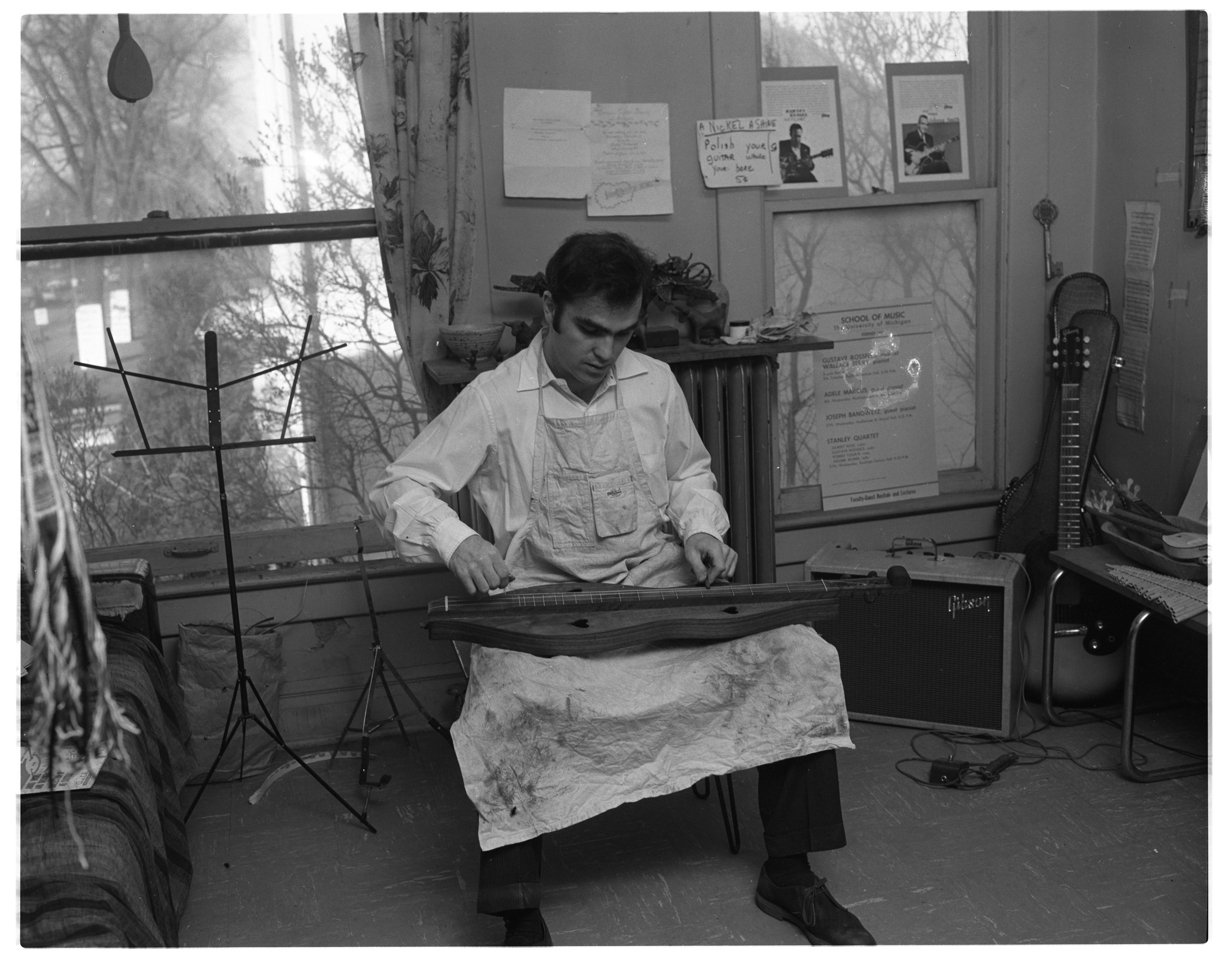 Herb David Demonstrates How to Play An Appalachian Dulcimer, March 1963 image