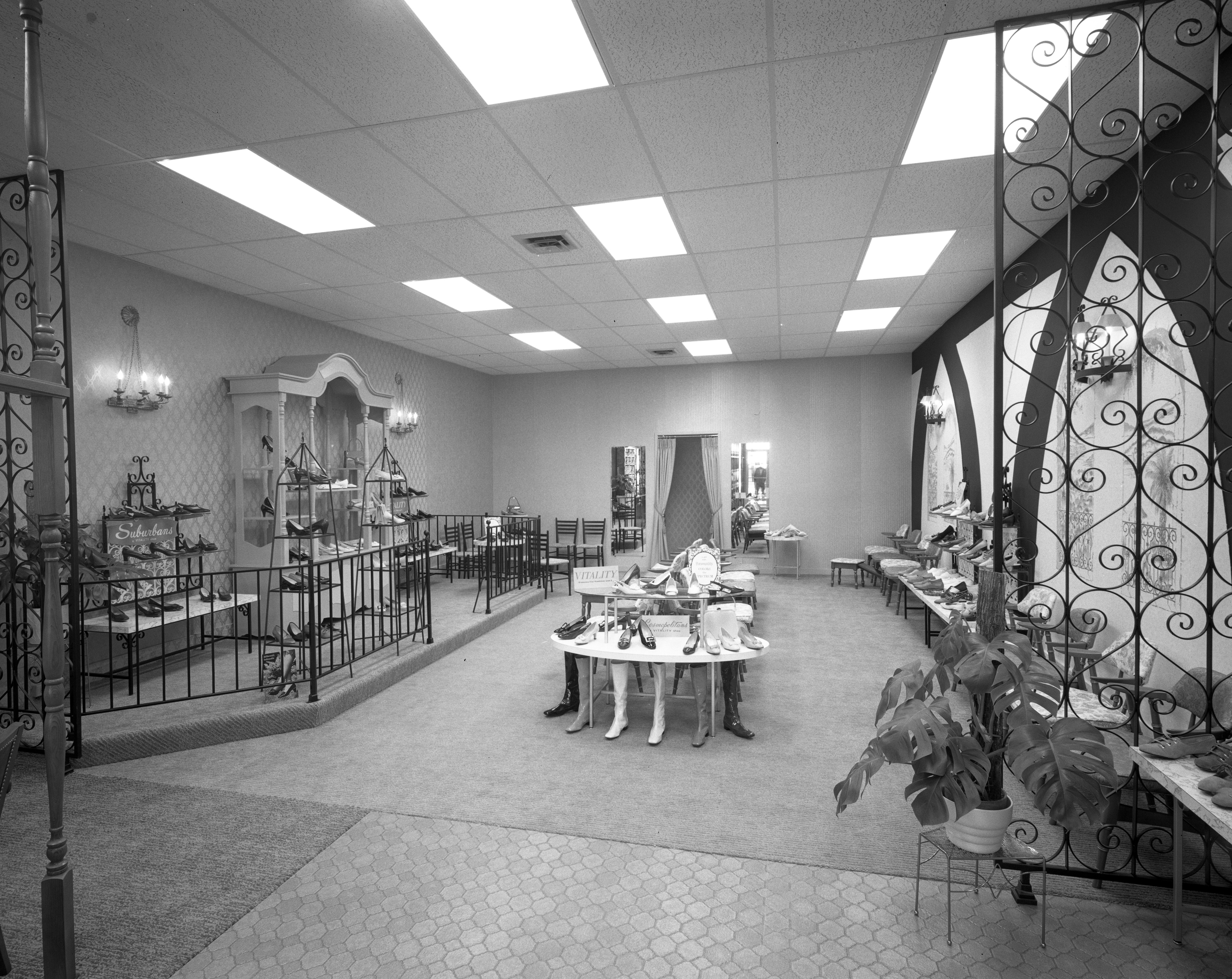 Women's Department of New Mast Shoe Store at 217 S. Main St., April 1968 image