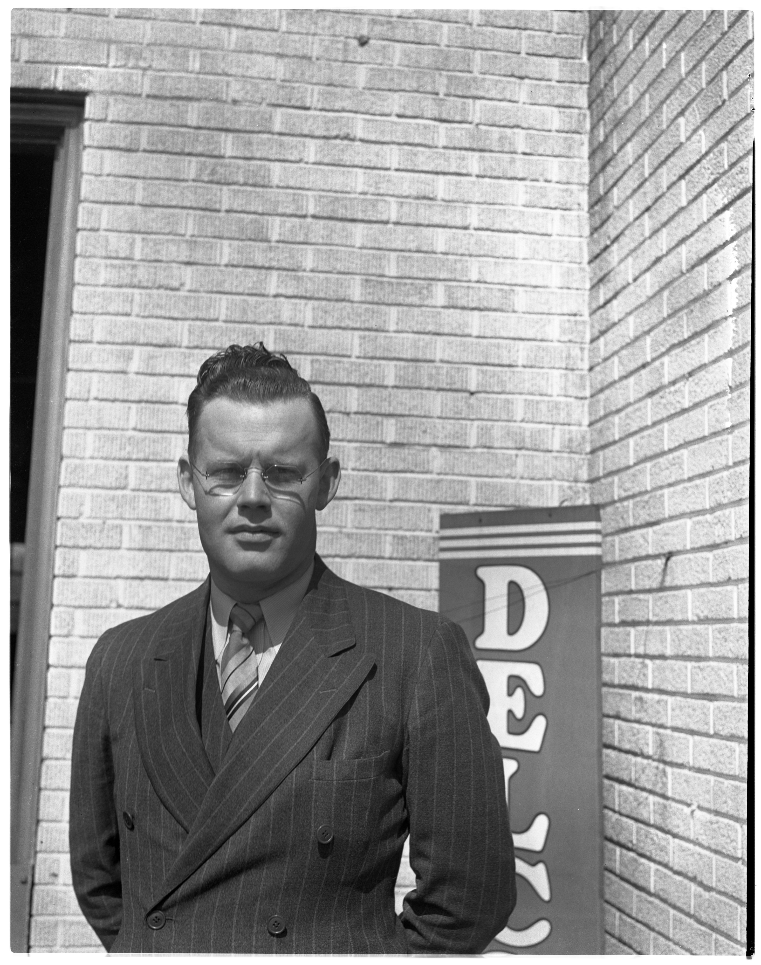 Ed Jones, Owner - C and J Tire Service, May 1940 image