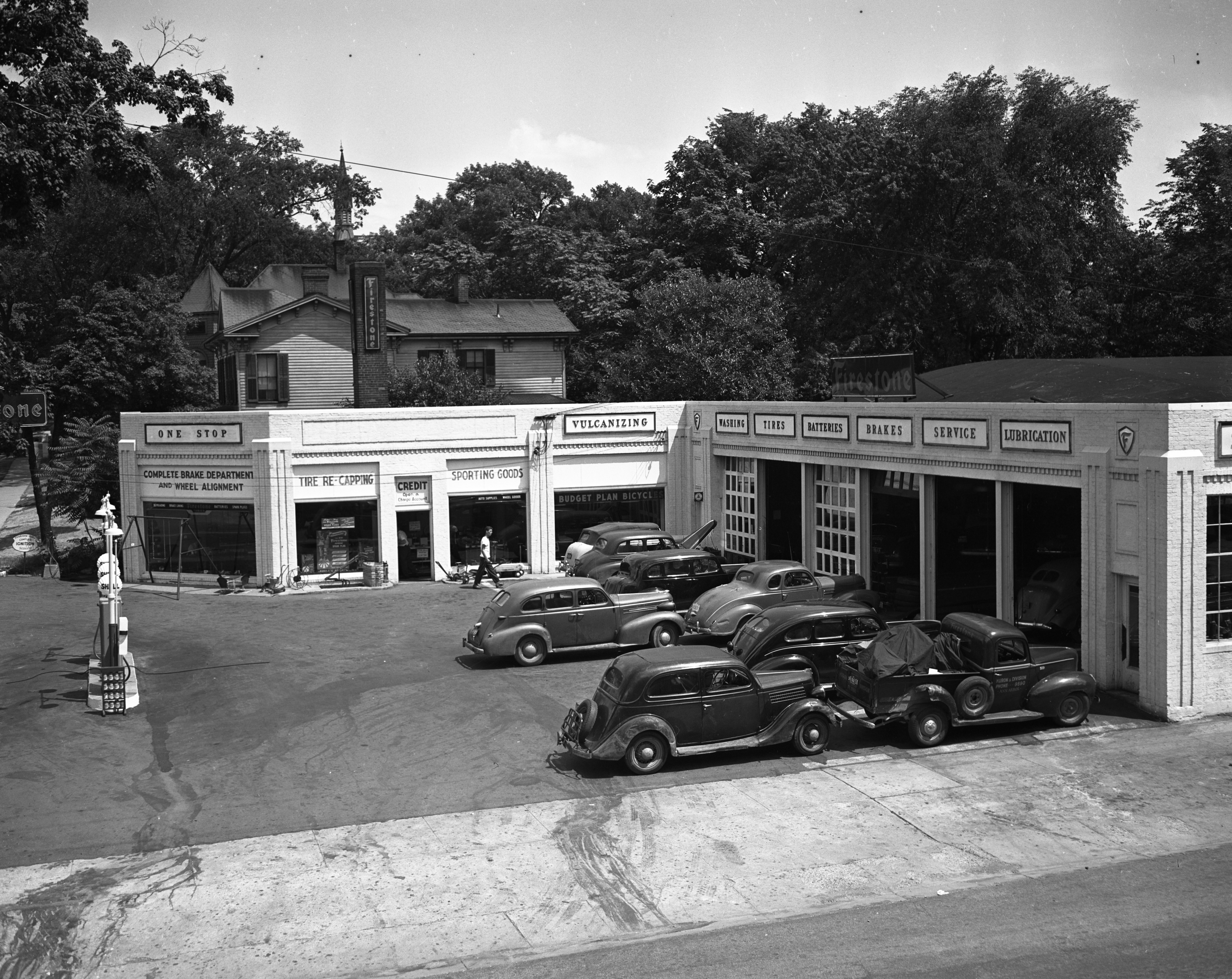 Firestone Station at Huron and Divison, July 1946 image