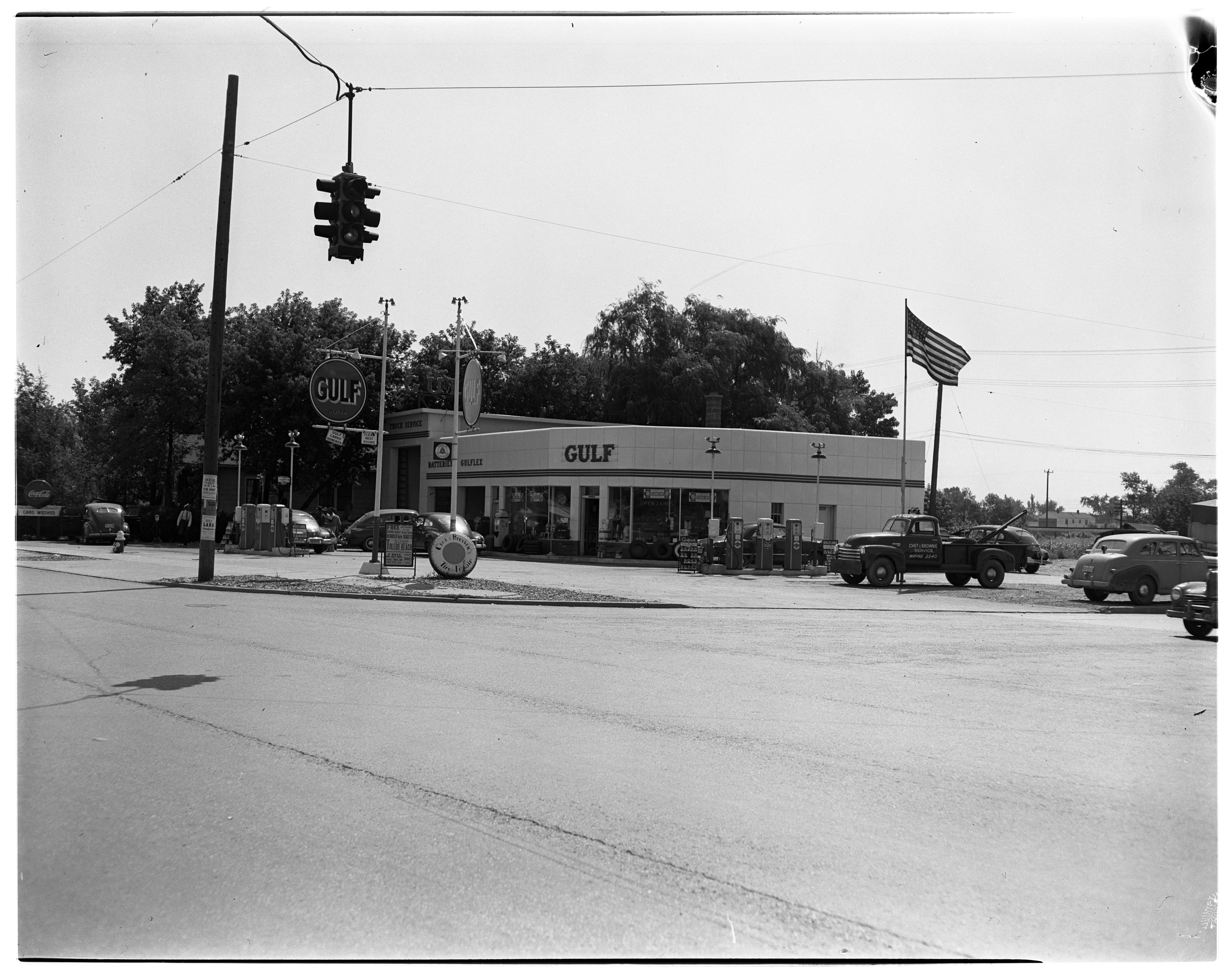 Gulf Gas Station & Service Center, August 1950 image