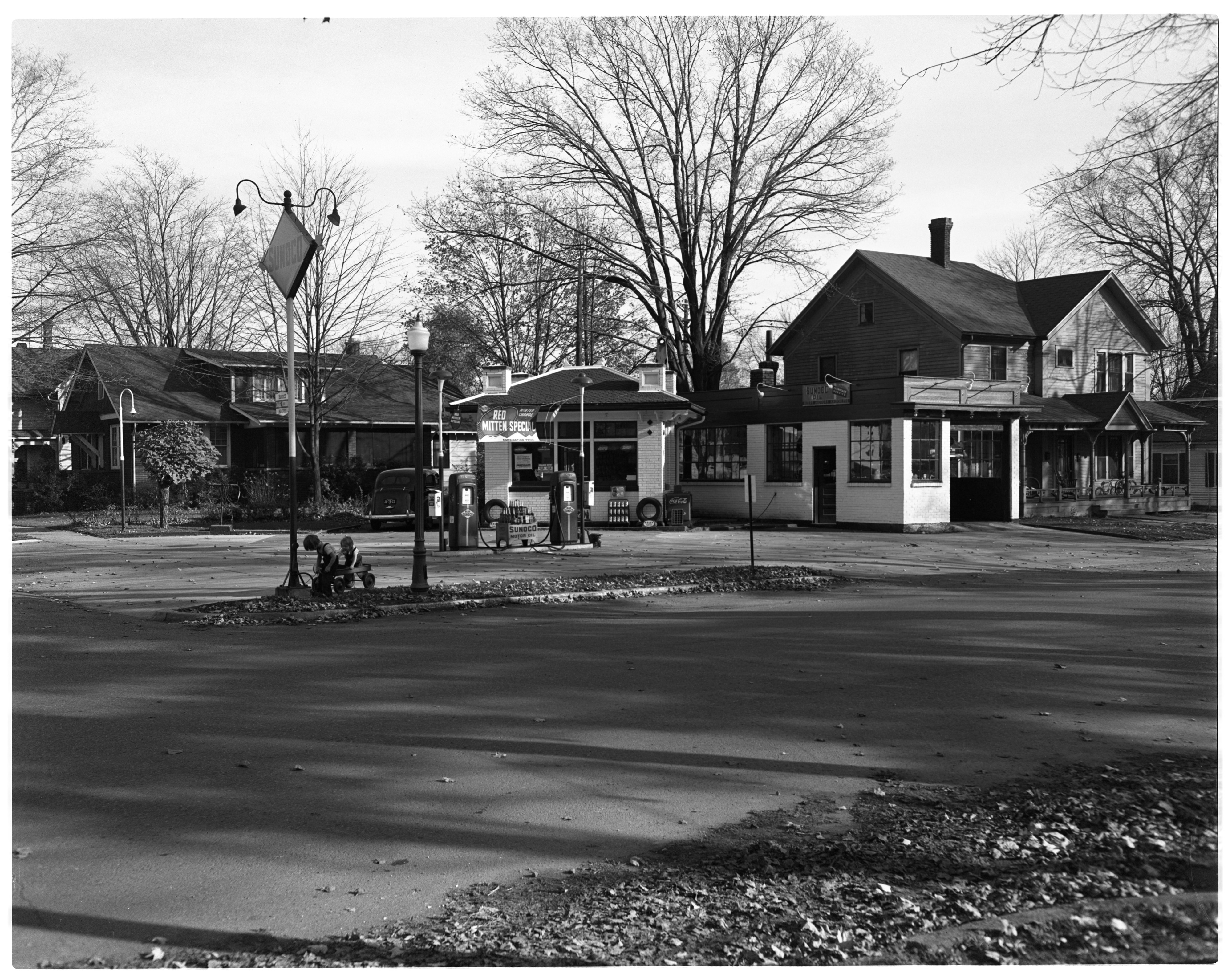 Gas station, November 1951 image