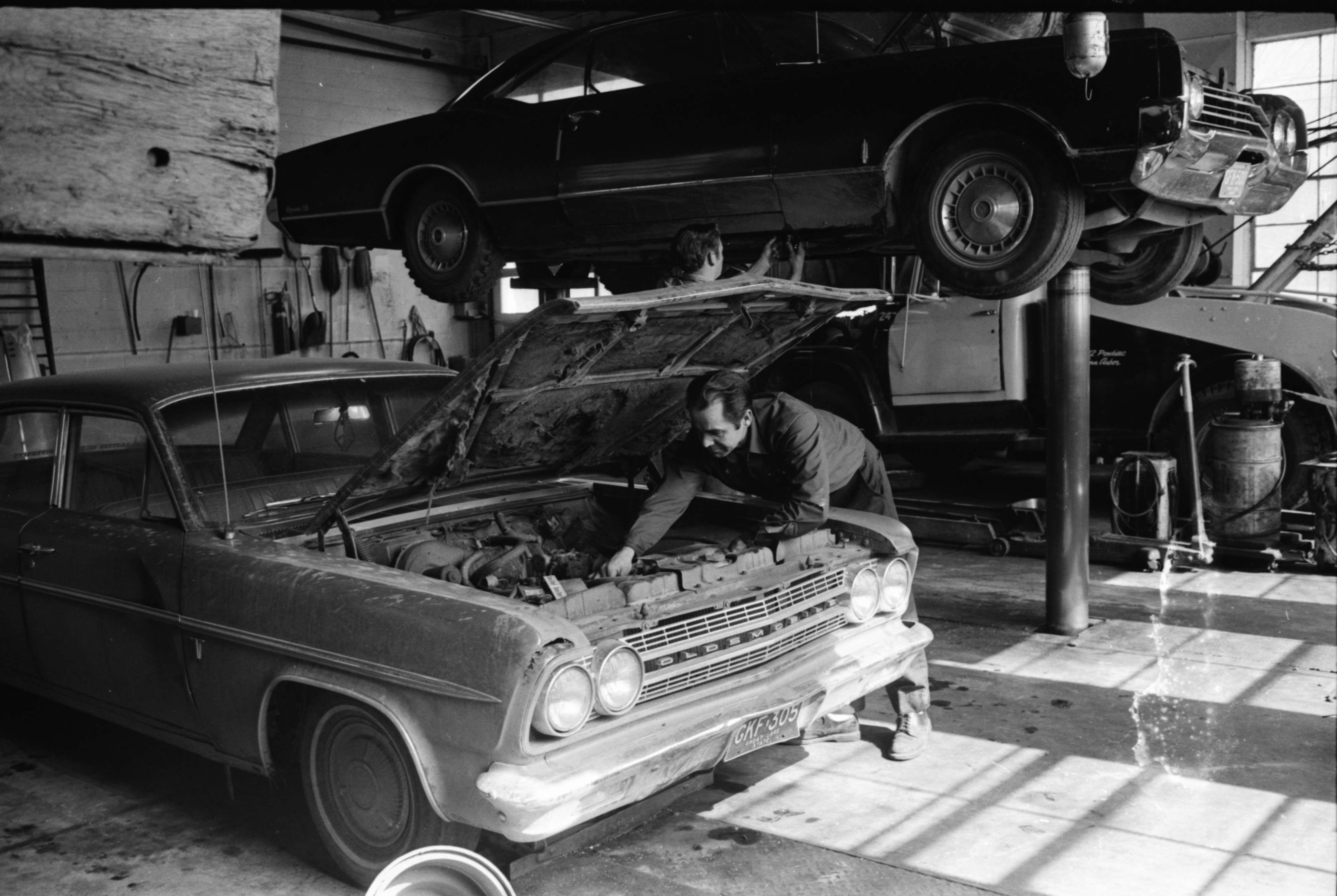 Under the Hood at Hilbert's Garage, 1971 image