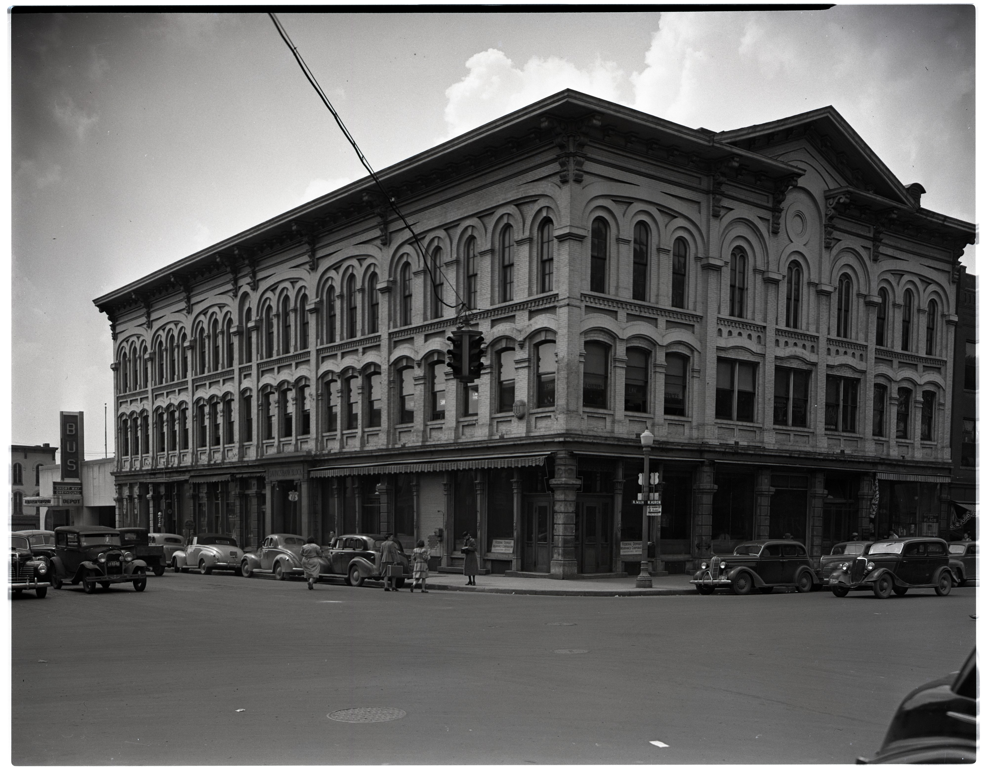 Ann Arbor Savings Bank Building, Bought by Allenel for Future Hotel, June 1943 image