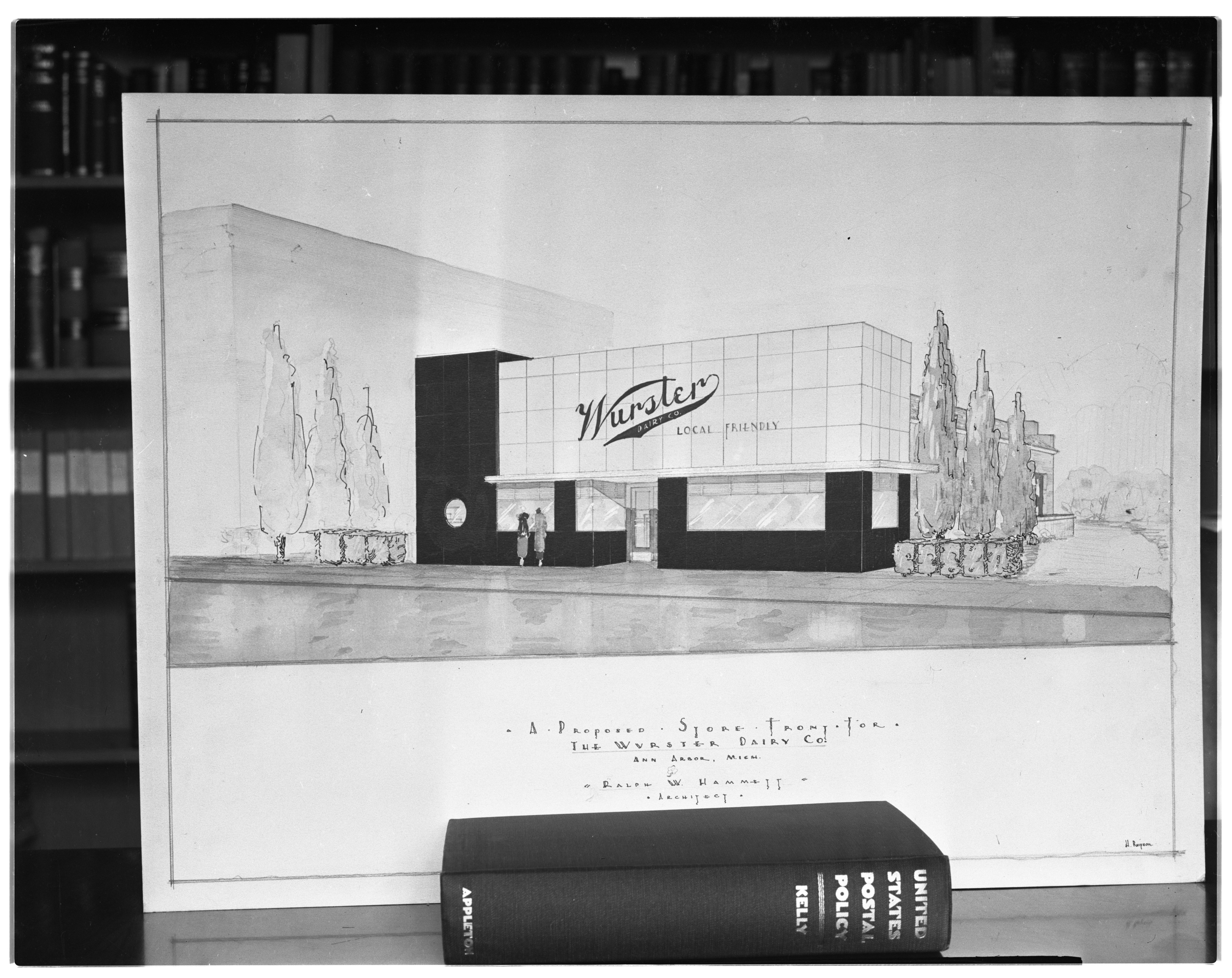 Drawing of Planned New Wurster Dairy Co Building, 1936 image