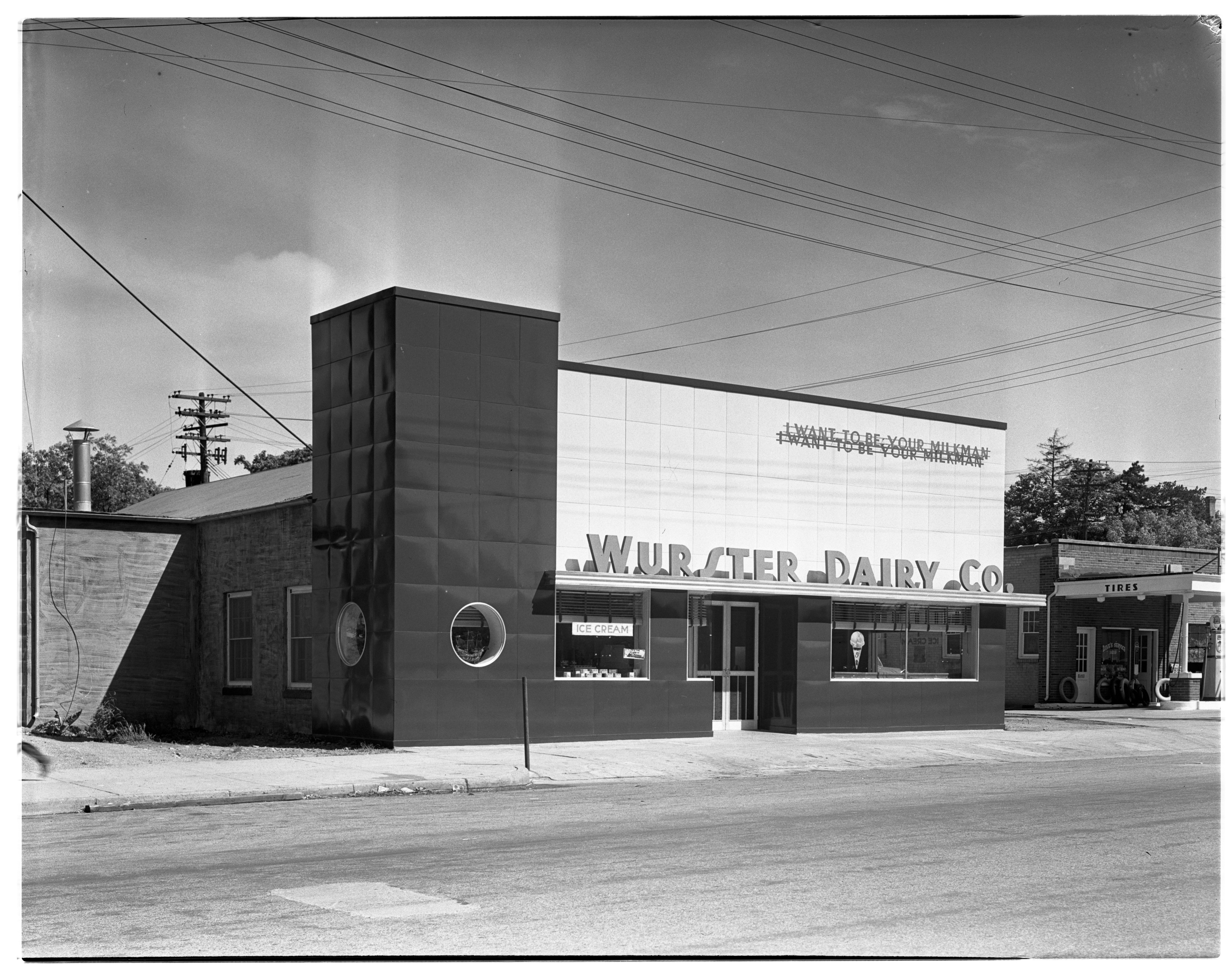 Wurster Dairy's New Building on Broadway, 1937 image