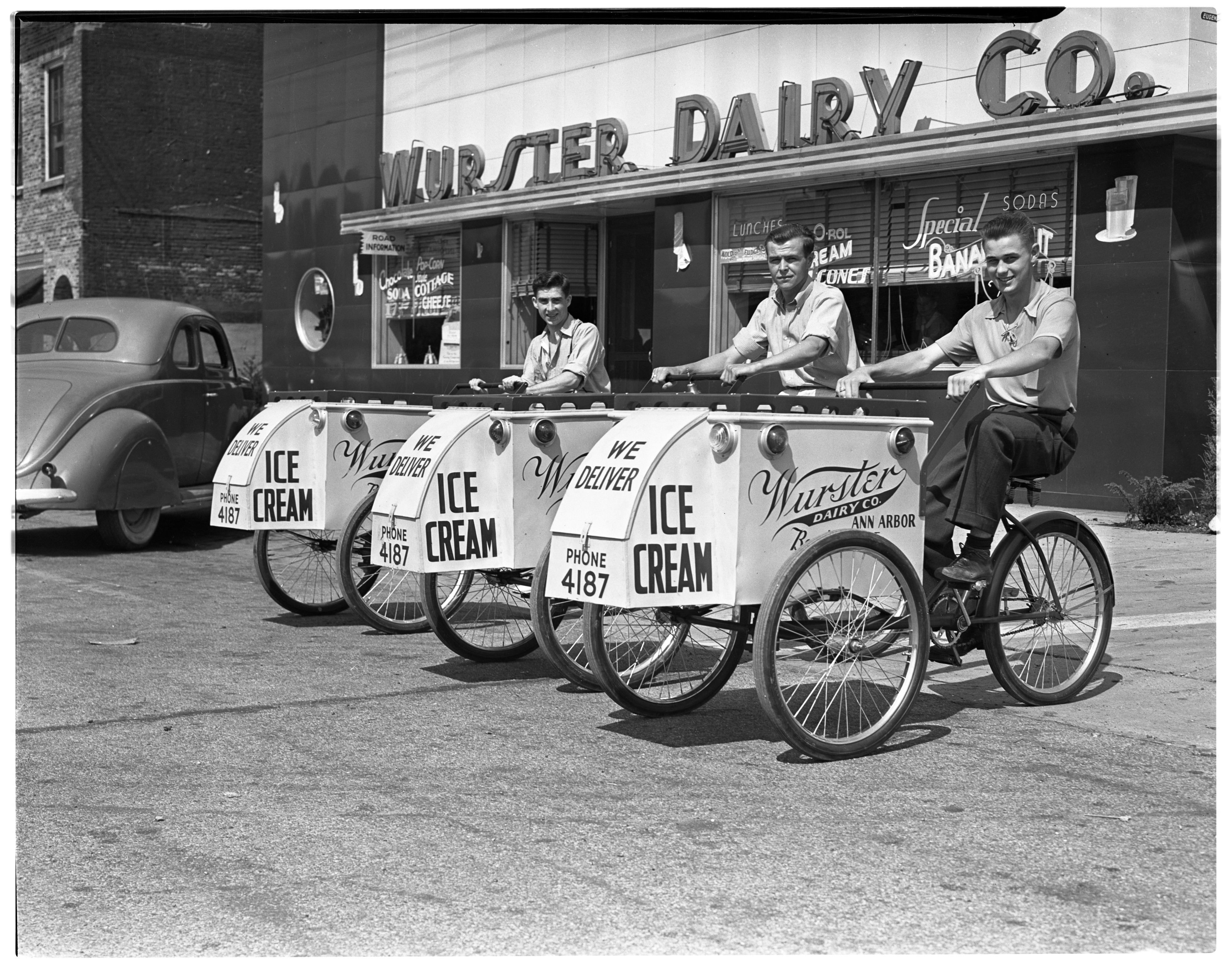 Wurster Dairy Ice Cream Carts, 1938 image