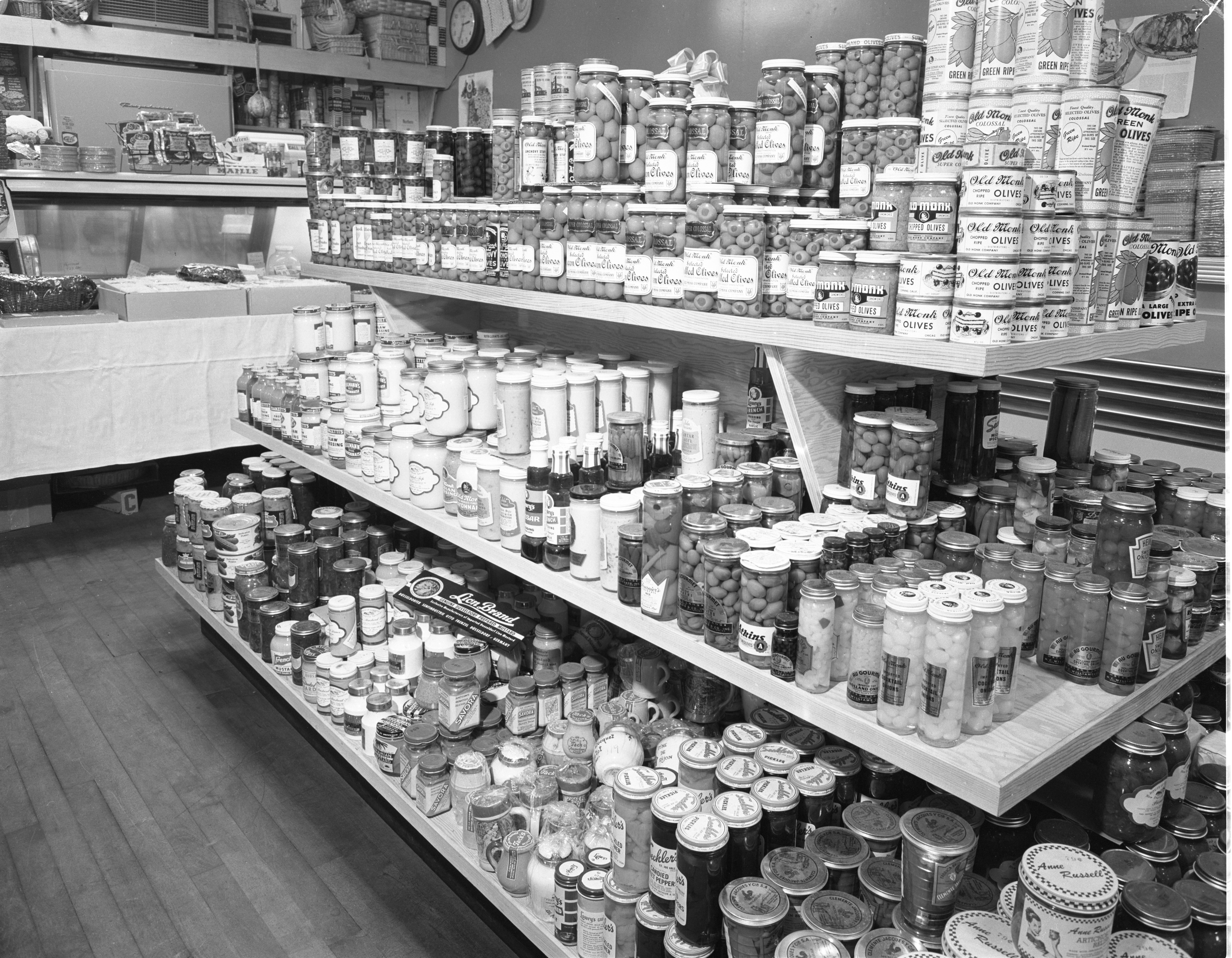 Grocery Display At Big Ten Party Store, November 1955 image