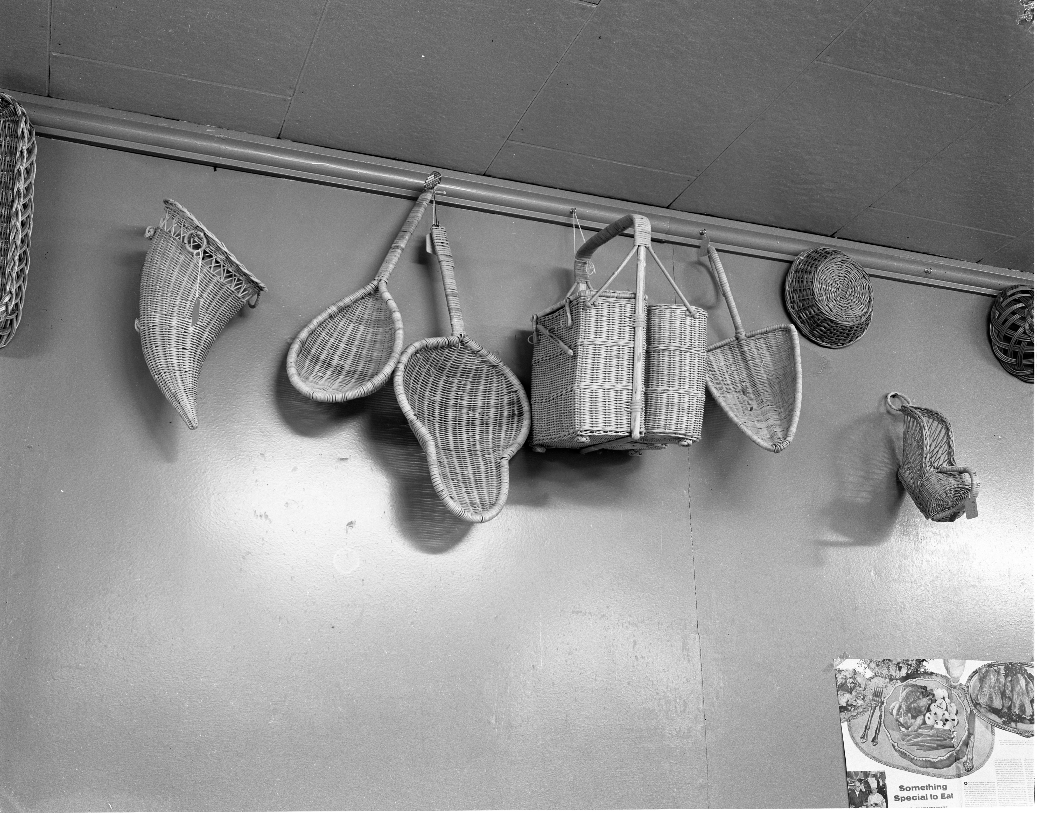 Basket Display At Big Ten Party Store, November 1955 image