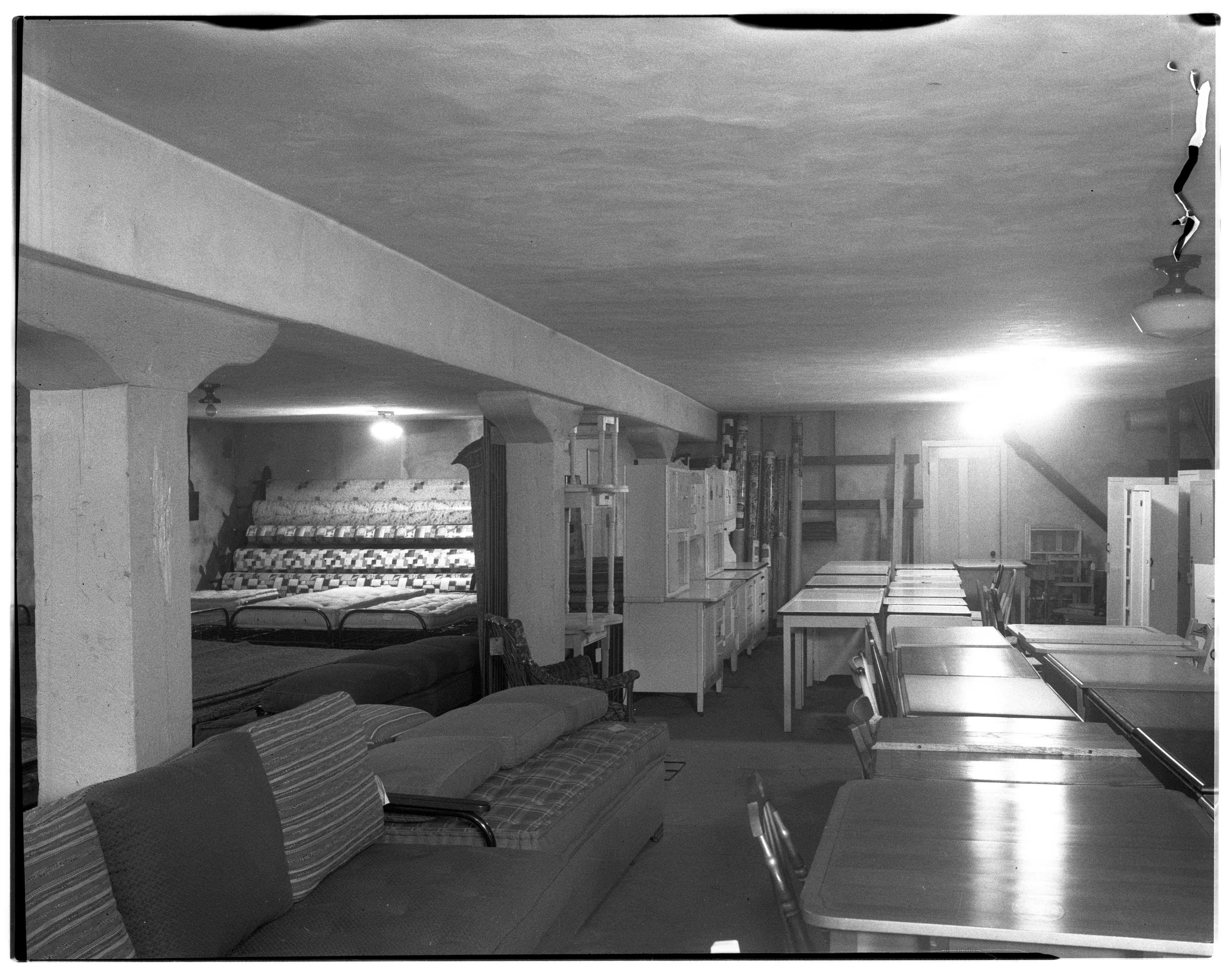 Warehouse Furniture Store Interior View, September 1936 image