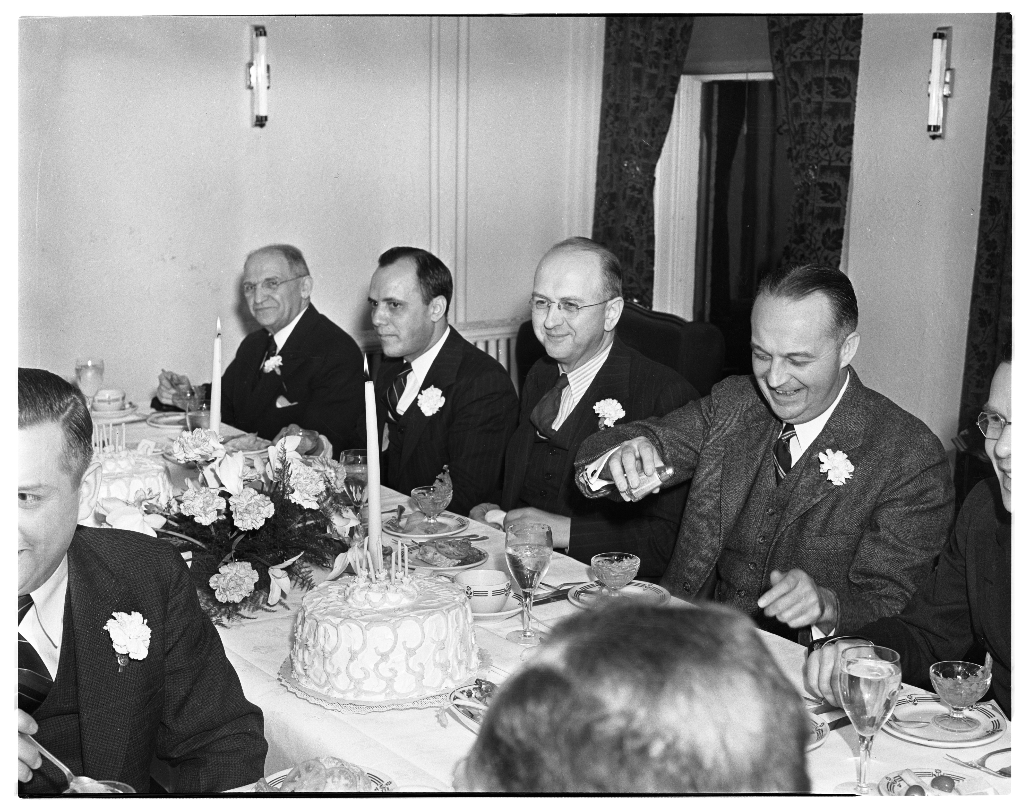 State Savings Bank Employee Banquet in the Private Dining Room at Allenel Hotel, January 1939 image