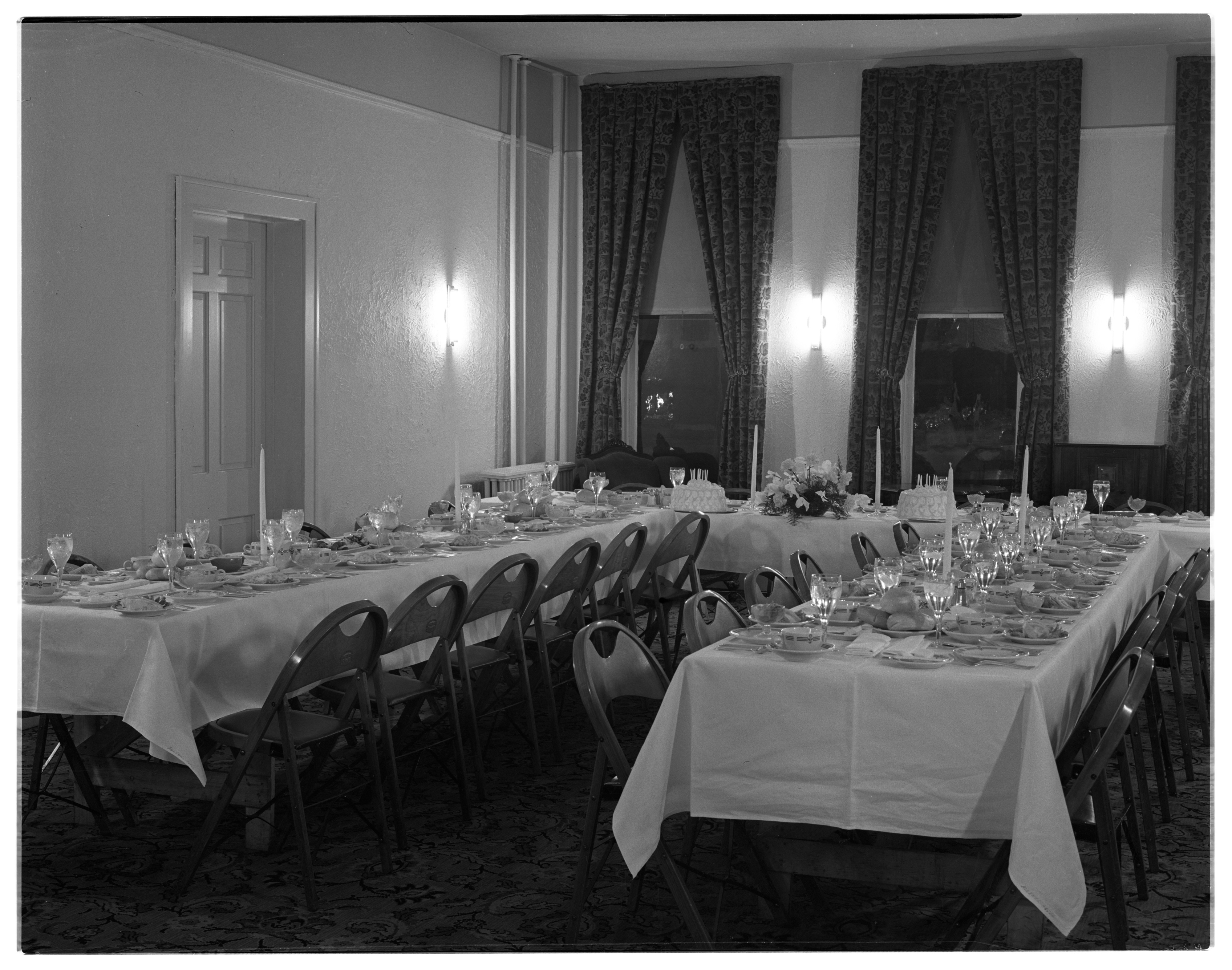 State Saving Bank Employee Banquet in the Private Dining Room at Allenel Hotel, Janaury 1939 image