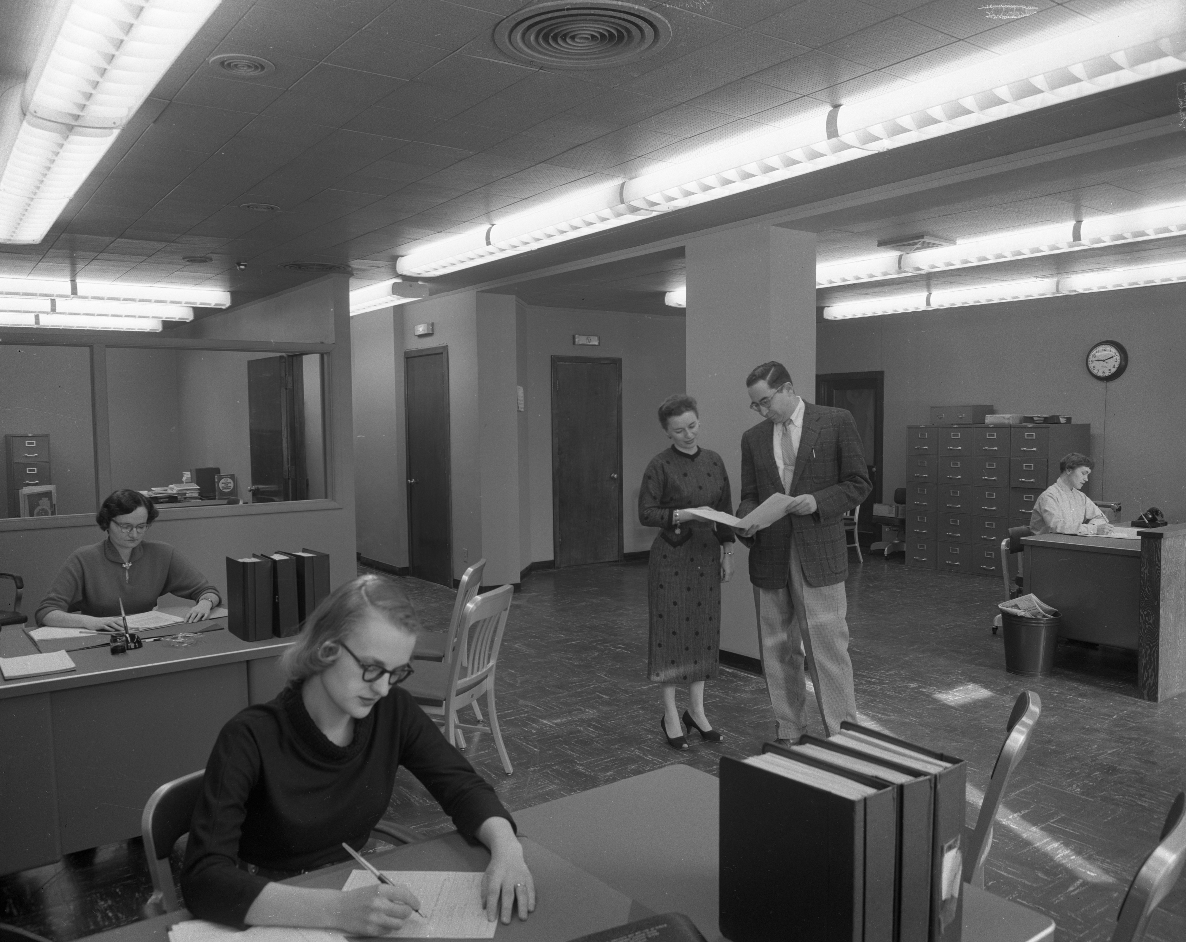 Remodeled Social Security office in Allenel Hotel, March 1957 image