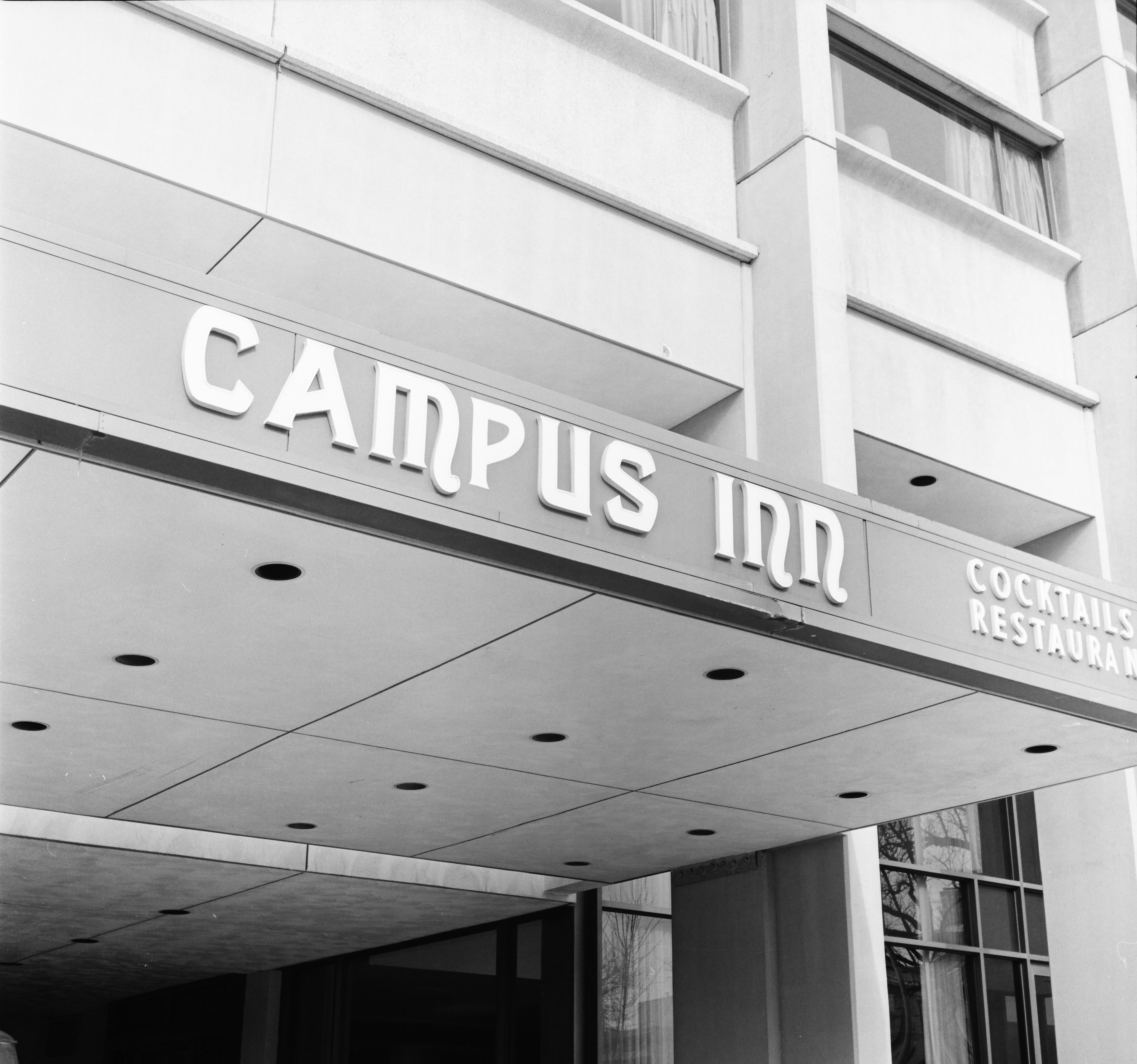 Canopy Sign, Campus Inn, February 1974 image