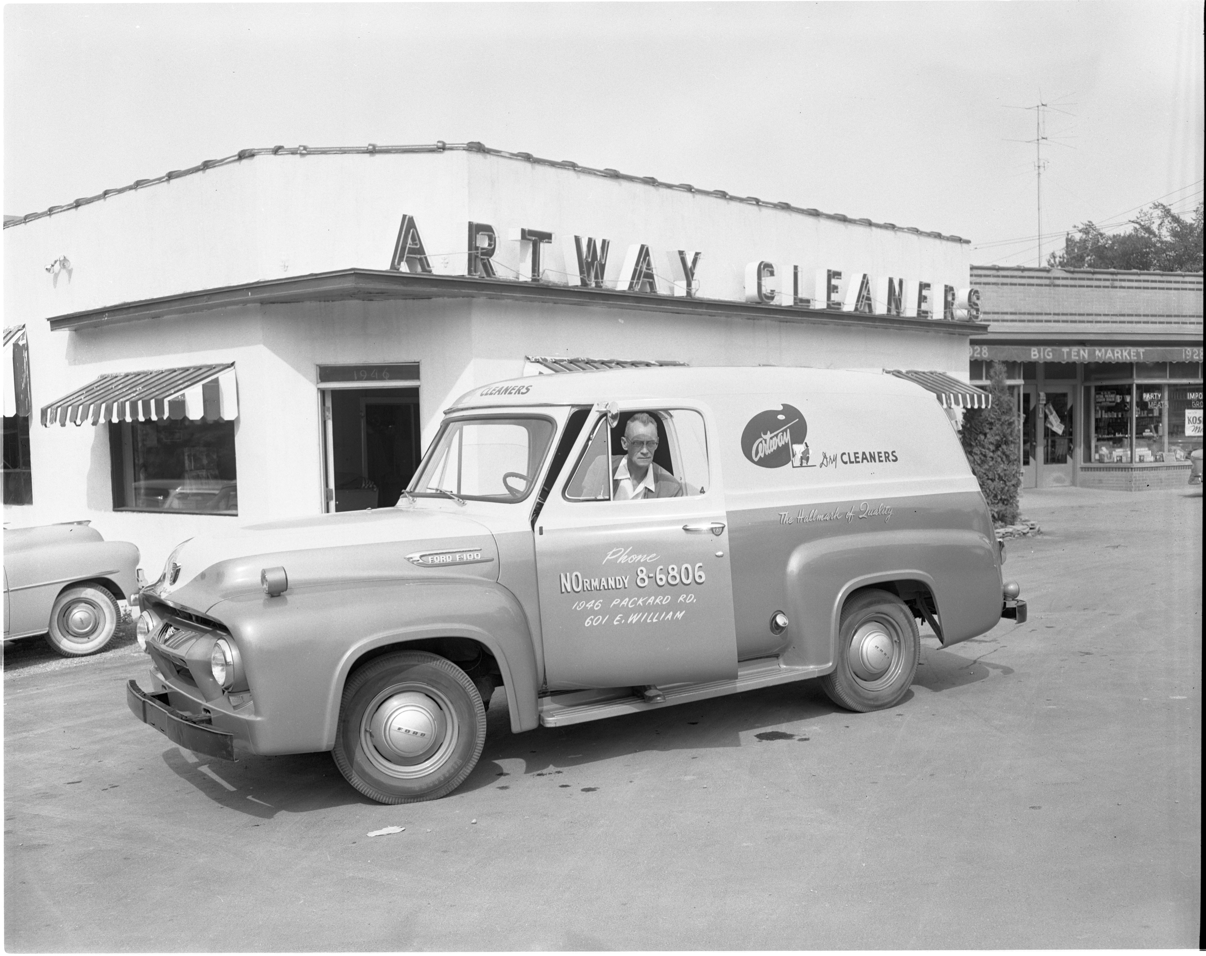 Artway Cleaners - 1946 Packard, August 1954 image