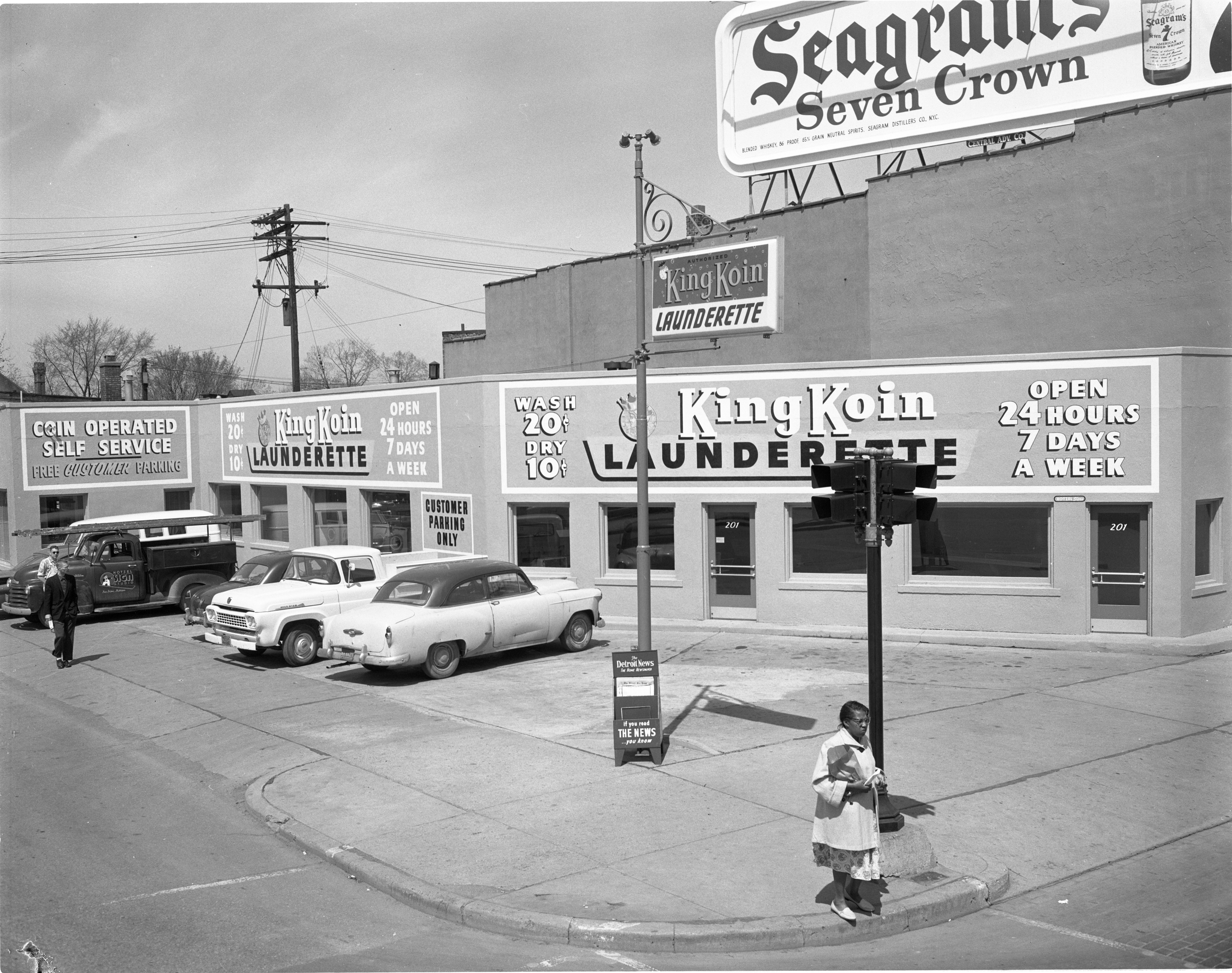 King Koin Launderette - 201 N Main St, April 1959 image