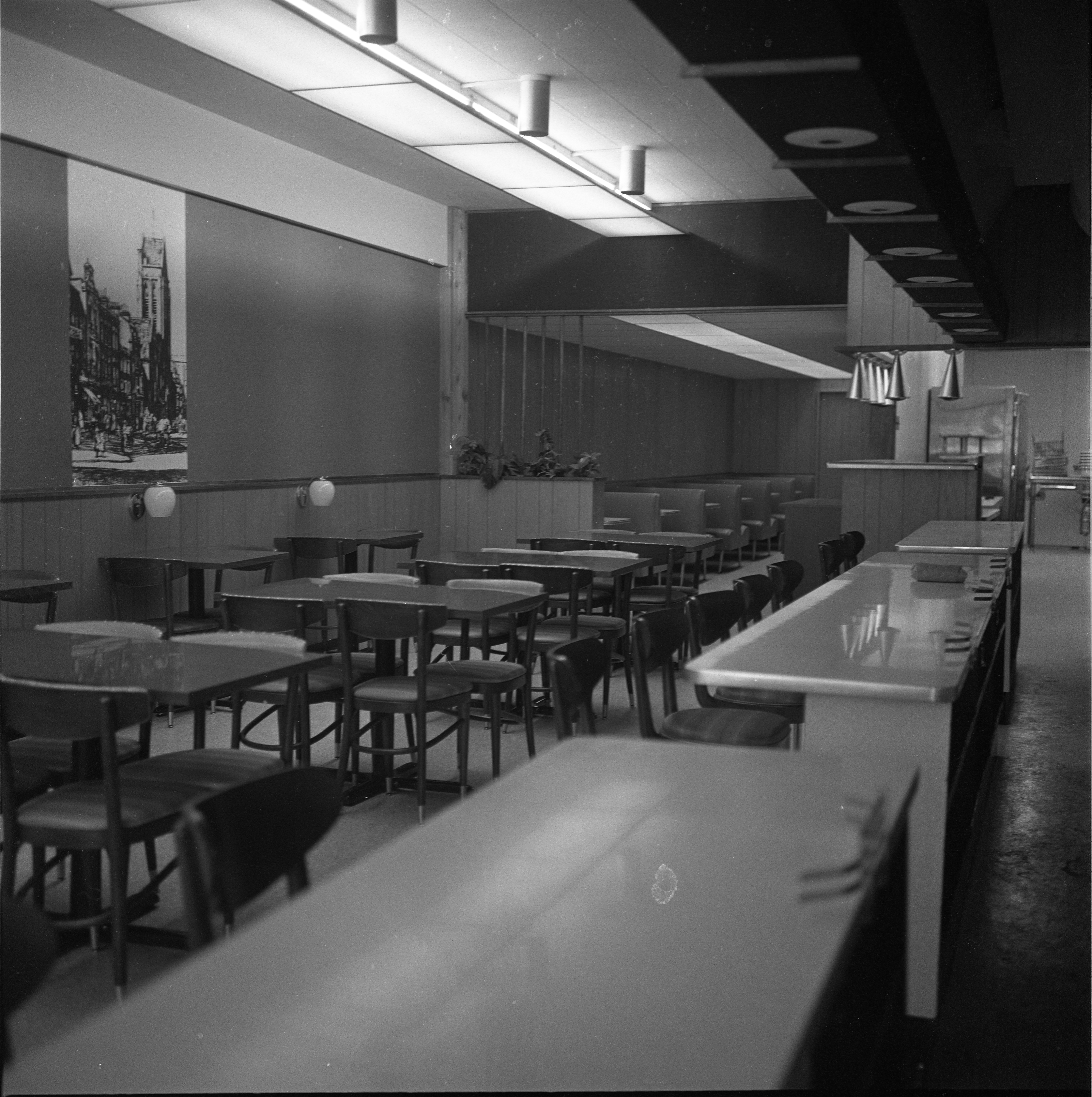 Interior Of The Lamplighter Restaurant For Advertisement, August 1964 image
