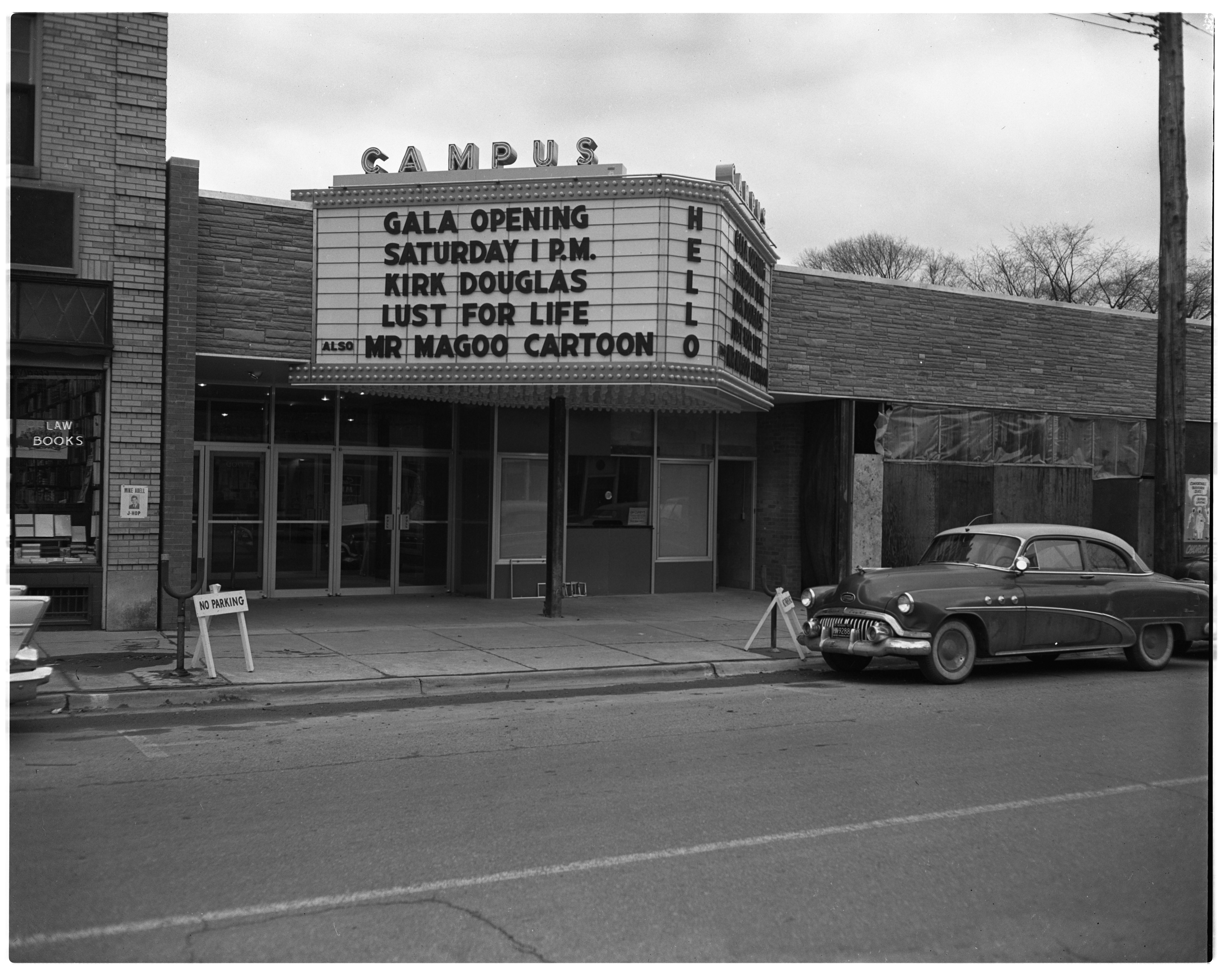 Campus Theater Marquee Gala Opening March 1957