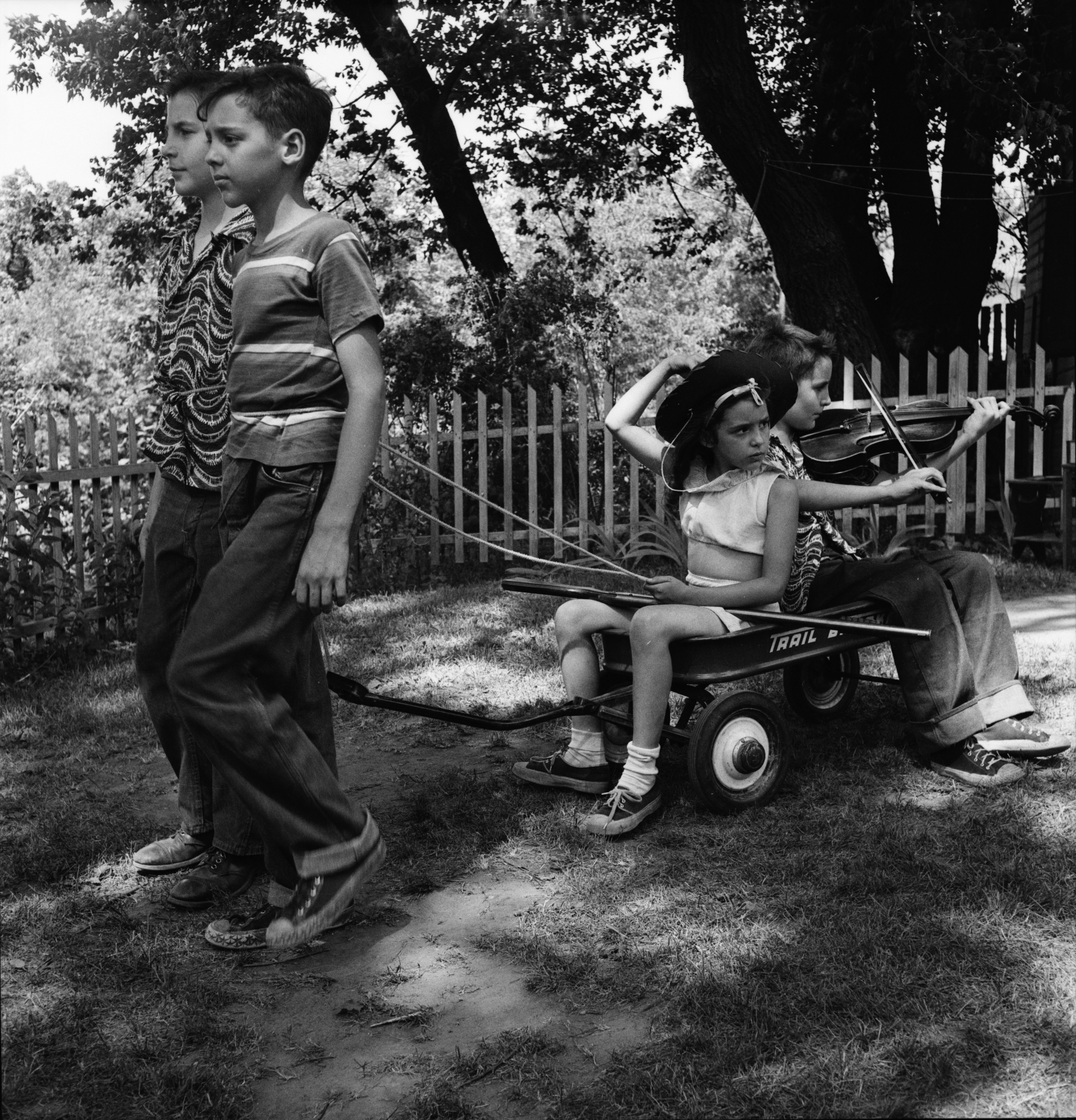 Children perform a play for the Muscular Dystrophy Appeal Fund, June 1952 image