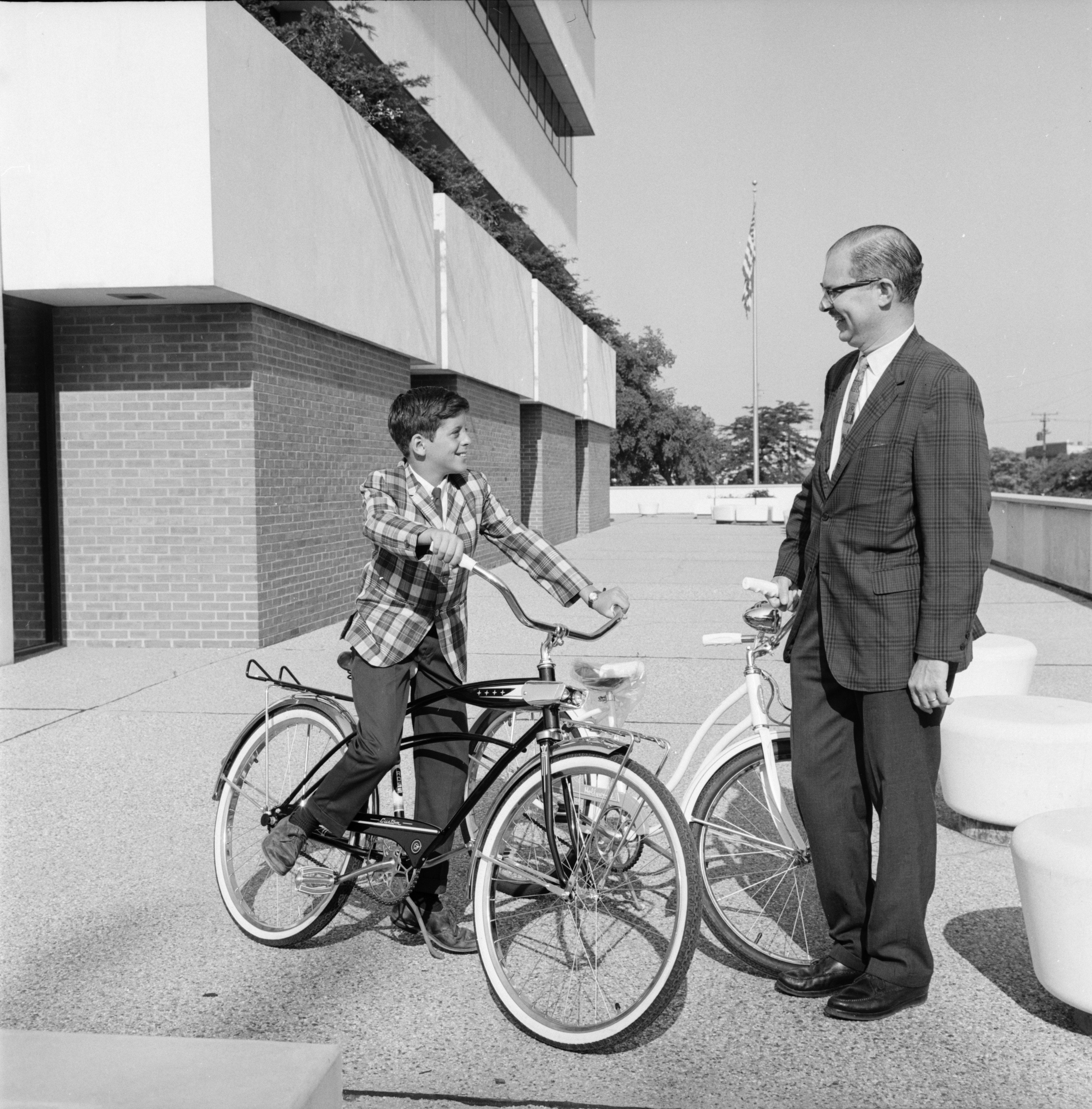 Tony Fransway wins bike for Safety Slogan, June 1967 image