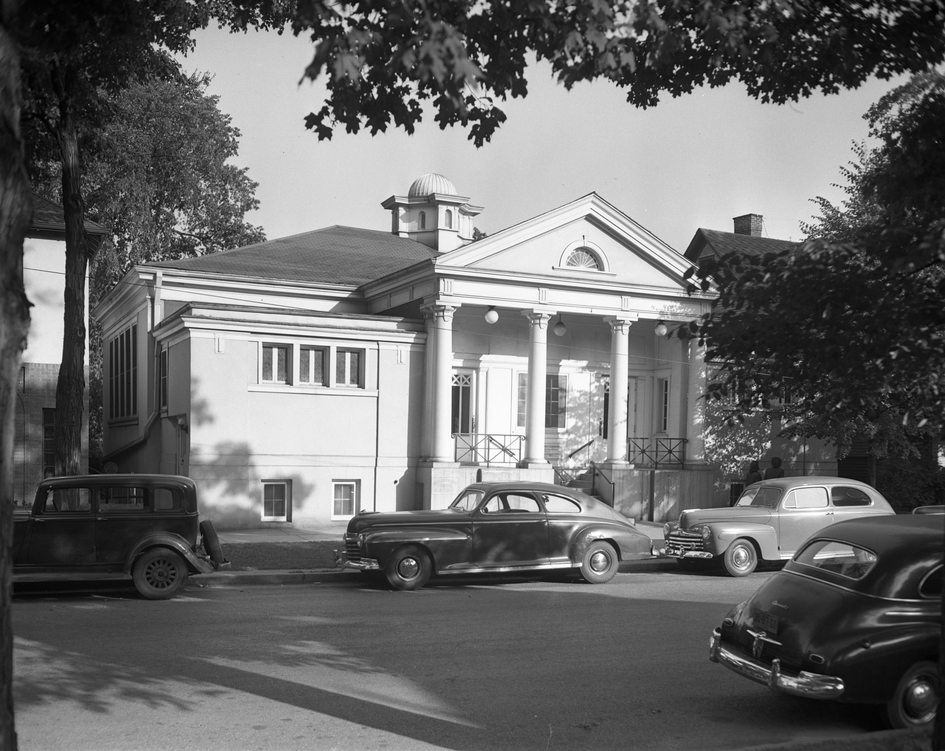 Exterior of Christian Science Church, Division St., October 1947 image