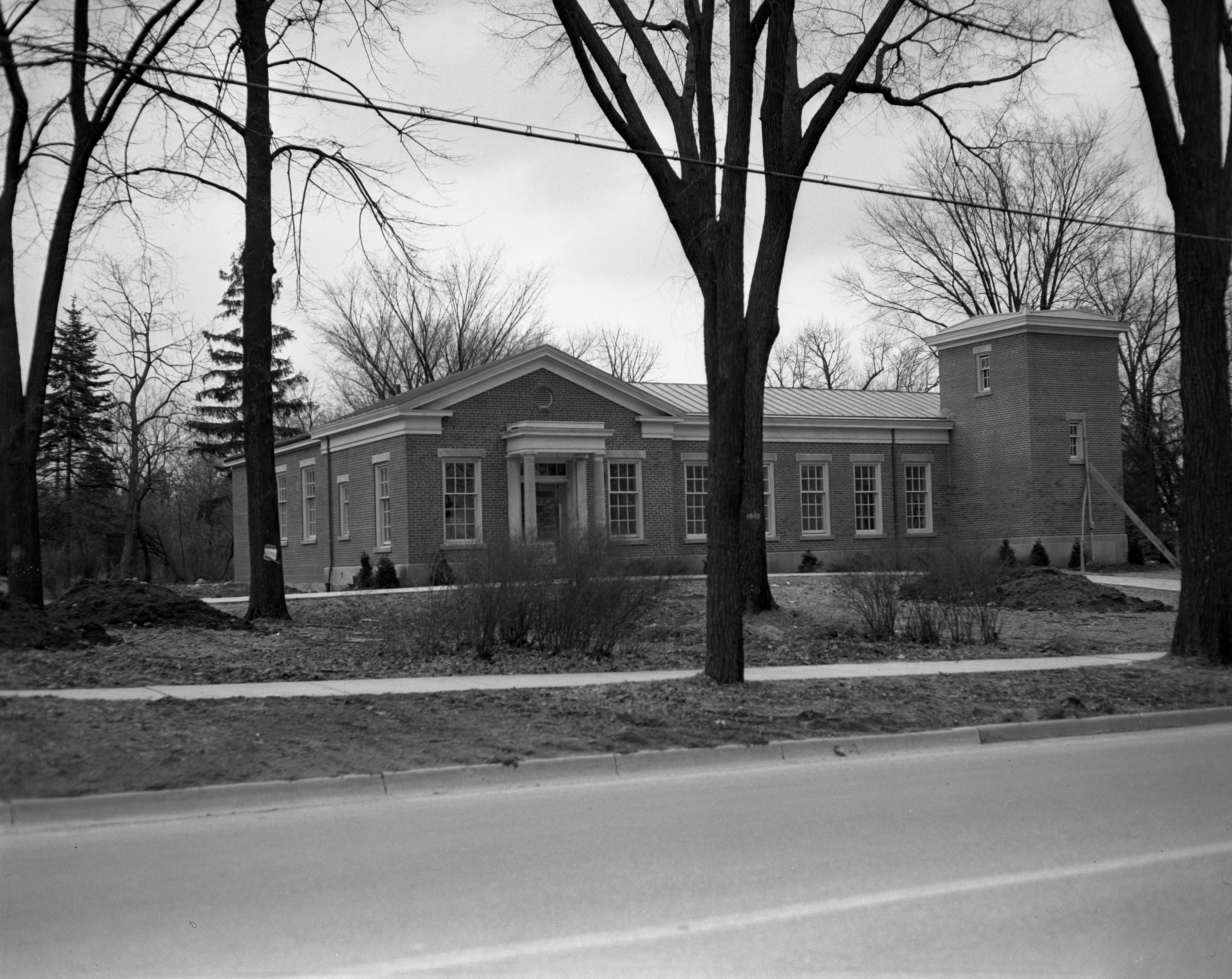 Exterior of Christian Science Church on Washtenaw, January 1950 image