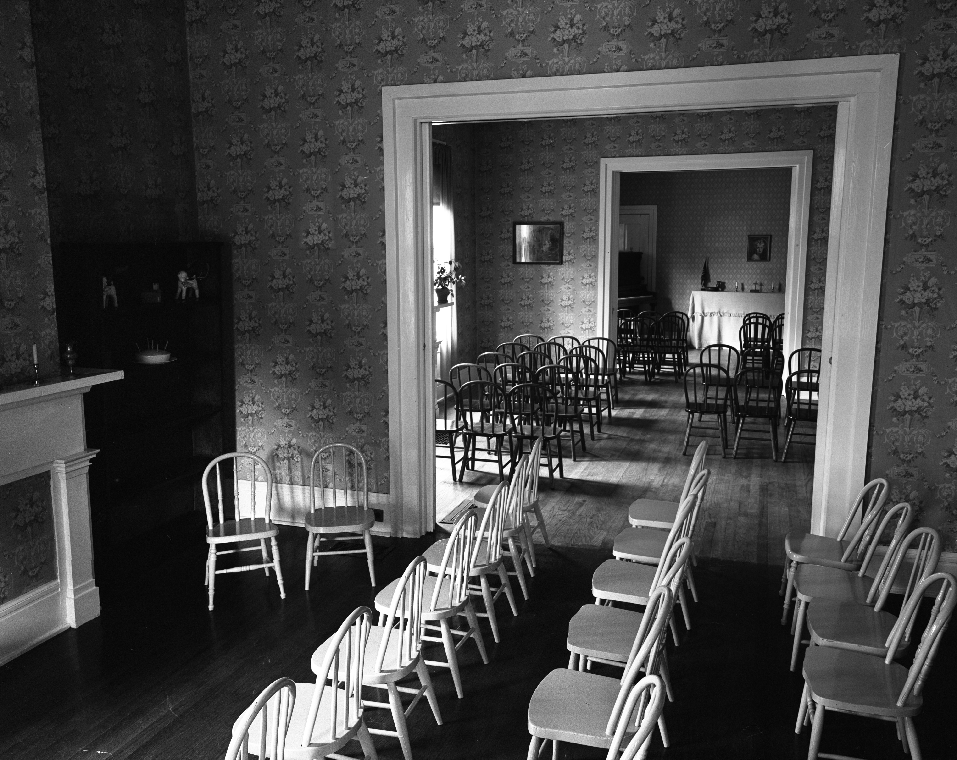Trinity Lutheran Church's Remodeled Church House Interior, October 1951 image