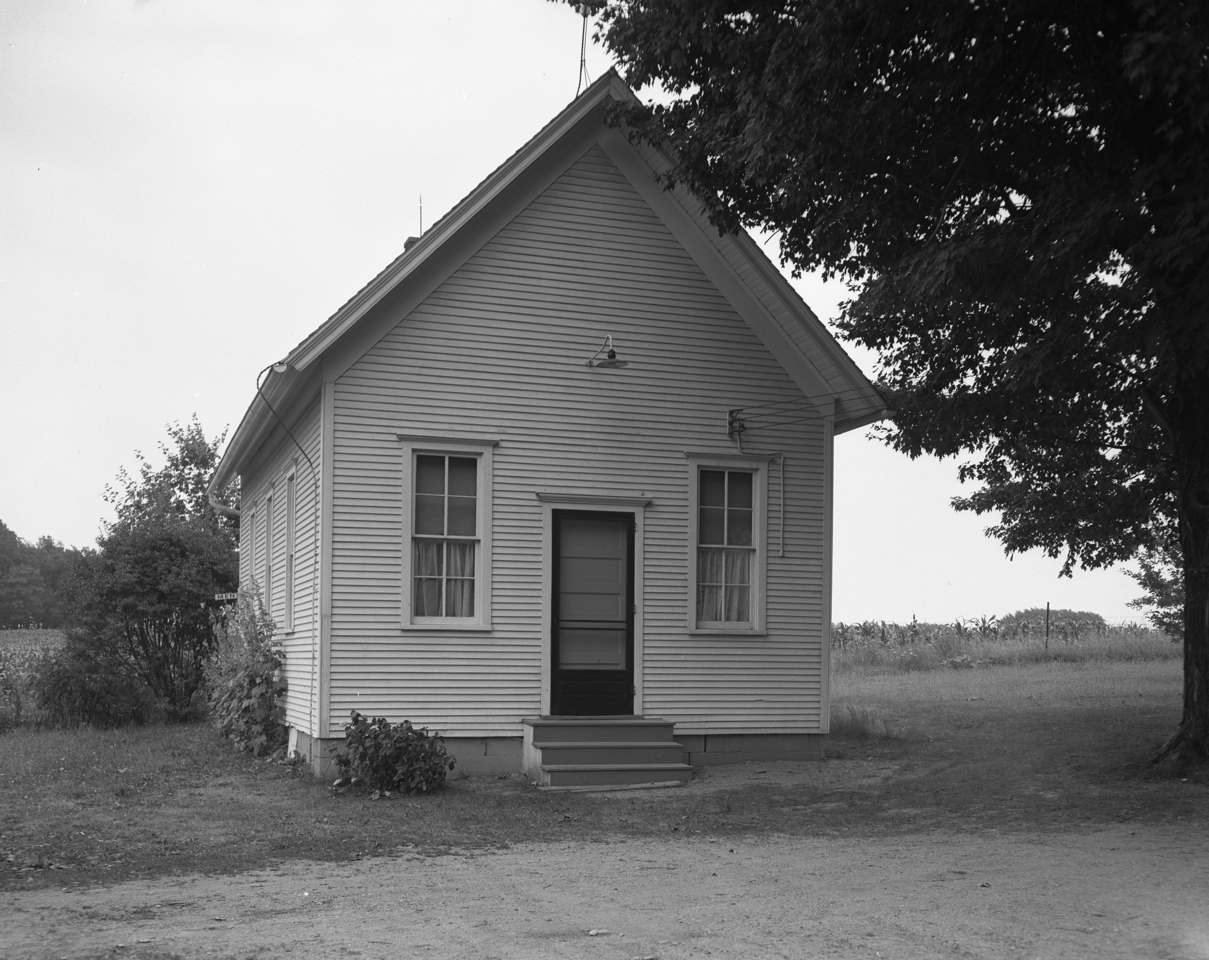 St. James Church on US 112 West of Saline, July 1952 image