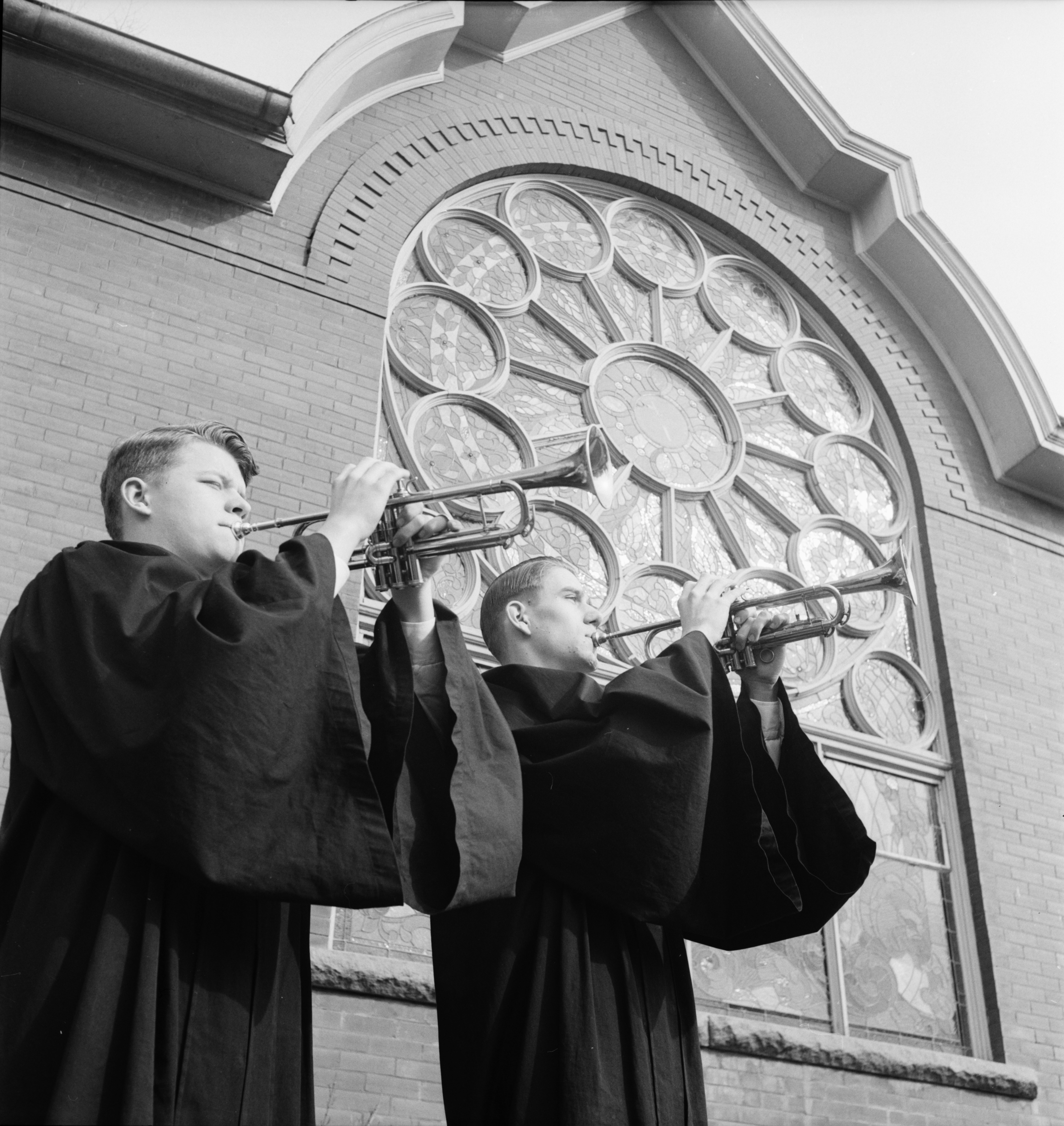 Saline Methodist Church: Trumpet Call To Easter Worship, April 1953 image