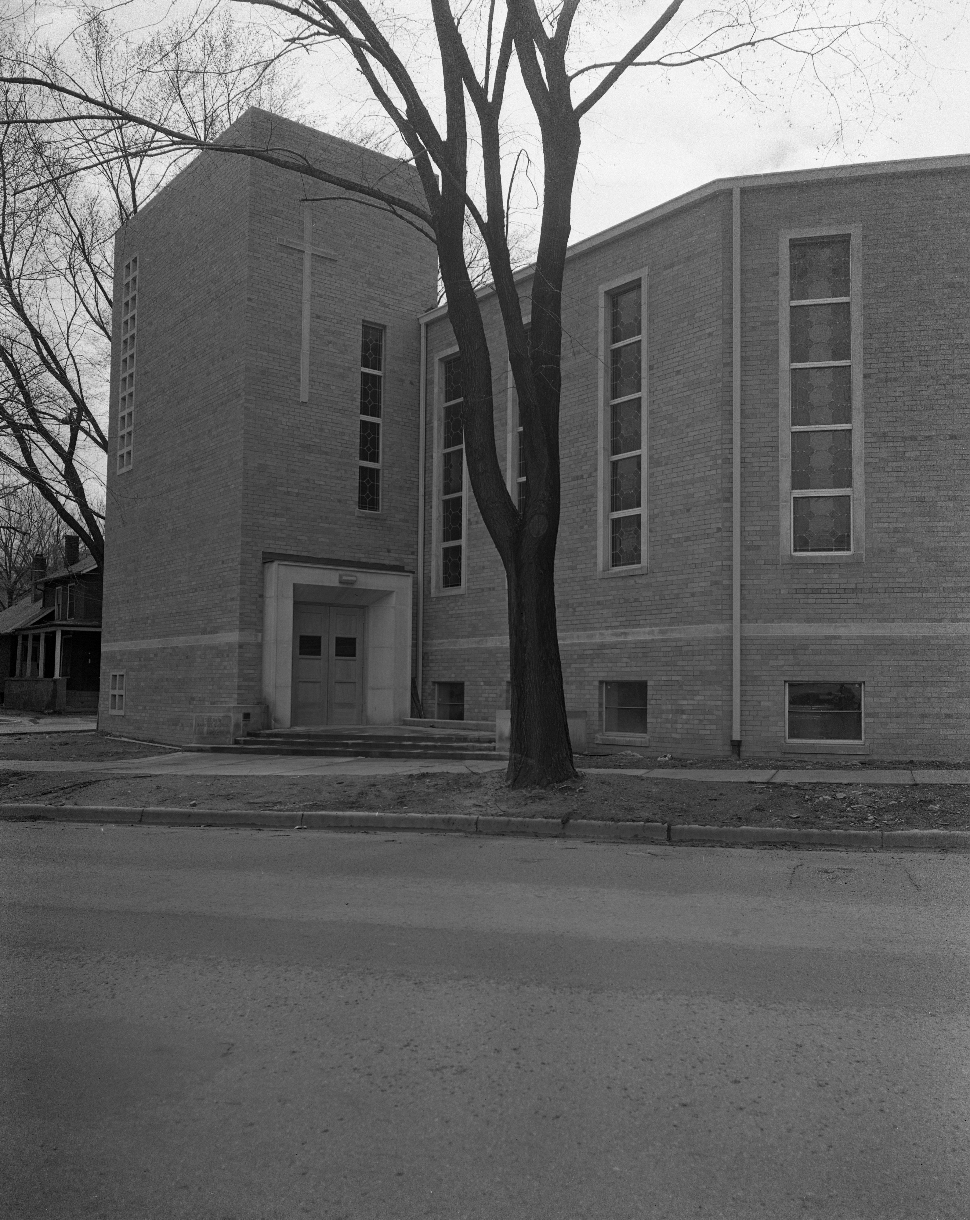 New Second Baptist Church Features Modern Design, May 1953 image