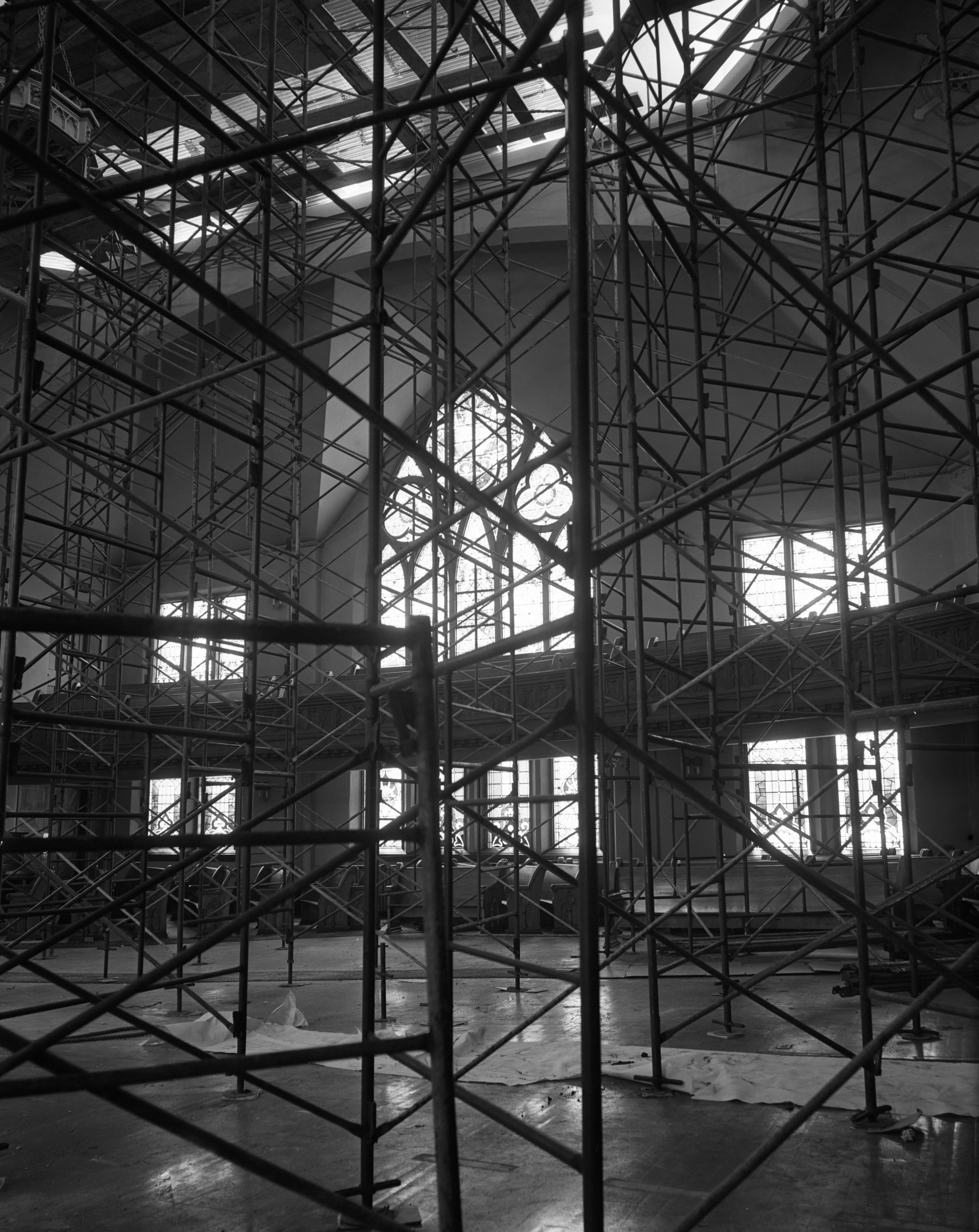 multipoint corner ny scaffolding casino seneca interior services niagara front adj suspended superior project falls scaffold