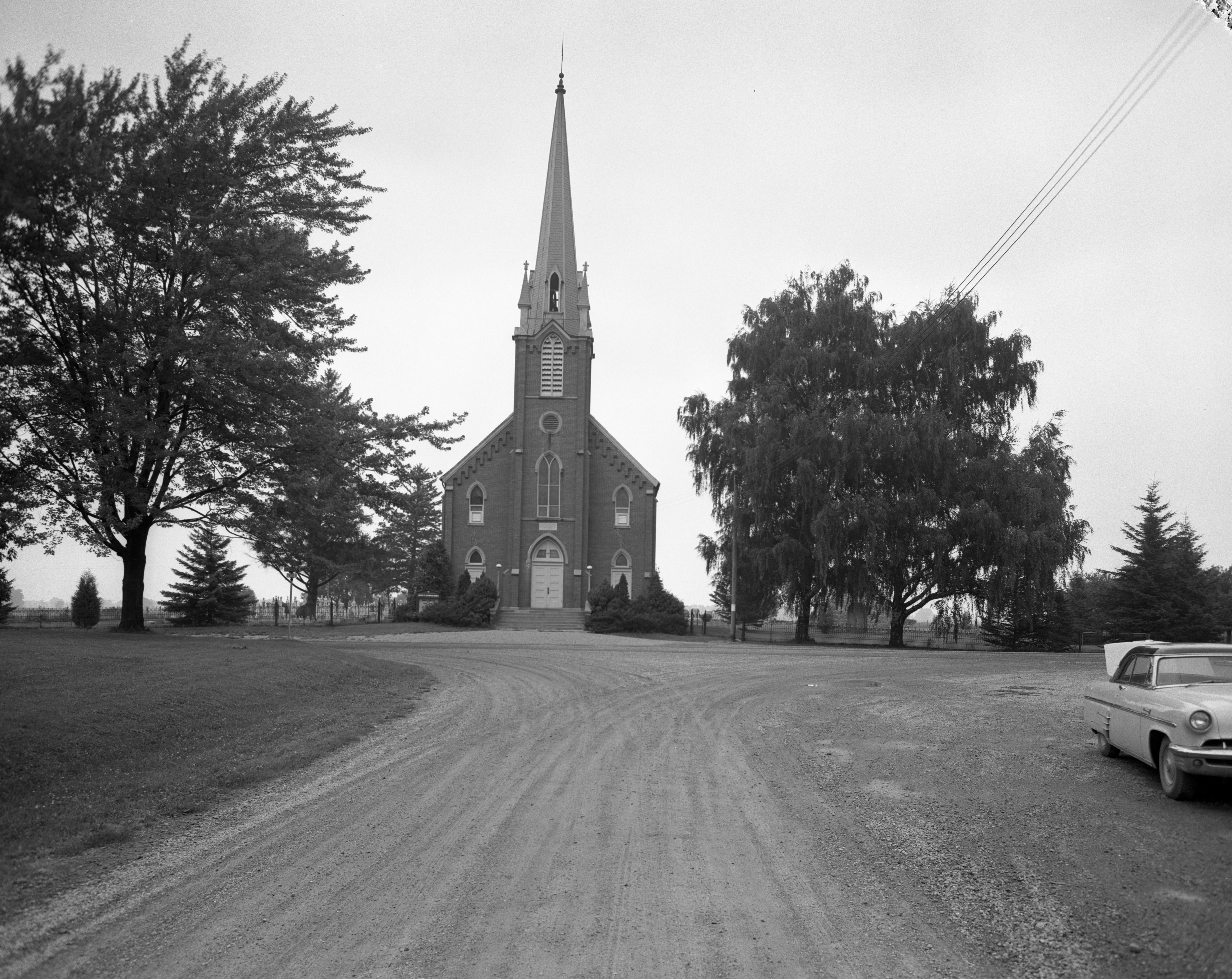 Salem Evangelical Lutheran Church, Scio Township, August 1956 image