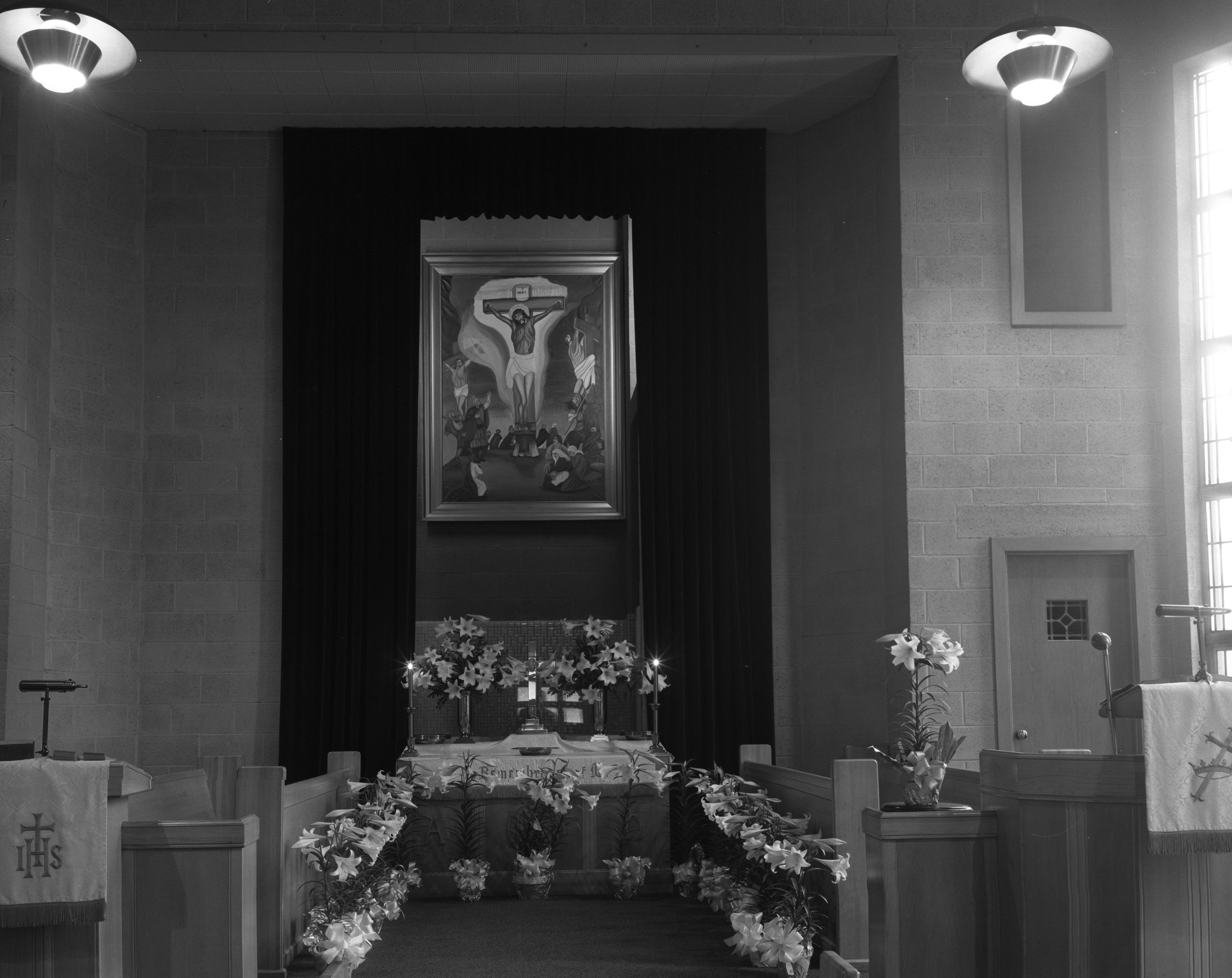 Easter Alter at Second Baptist Church, April 1961 image