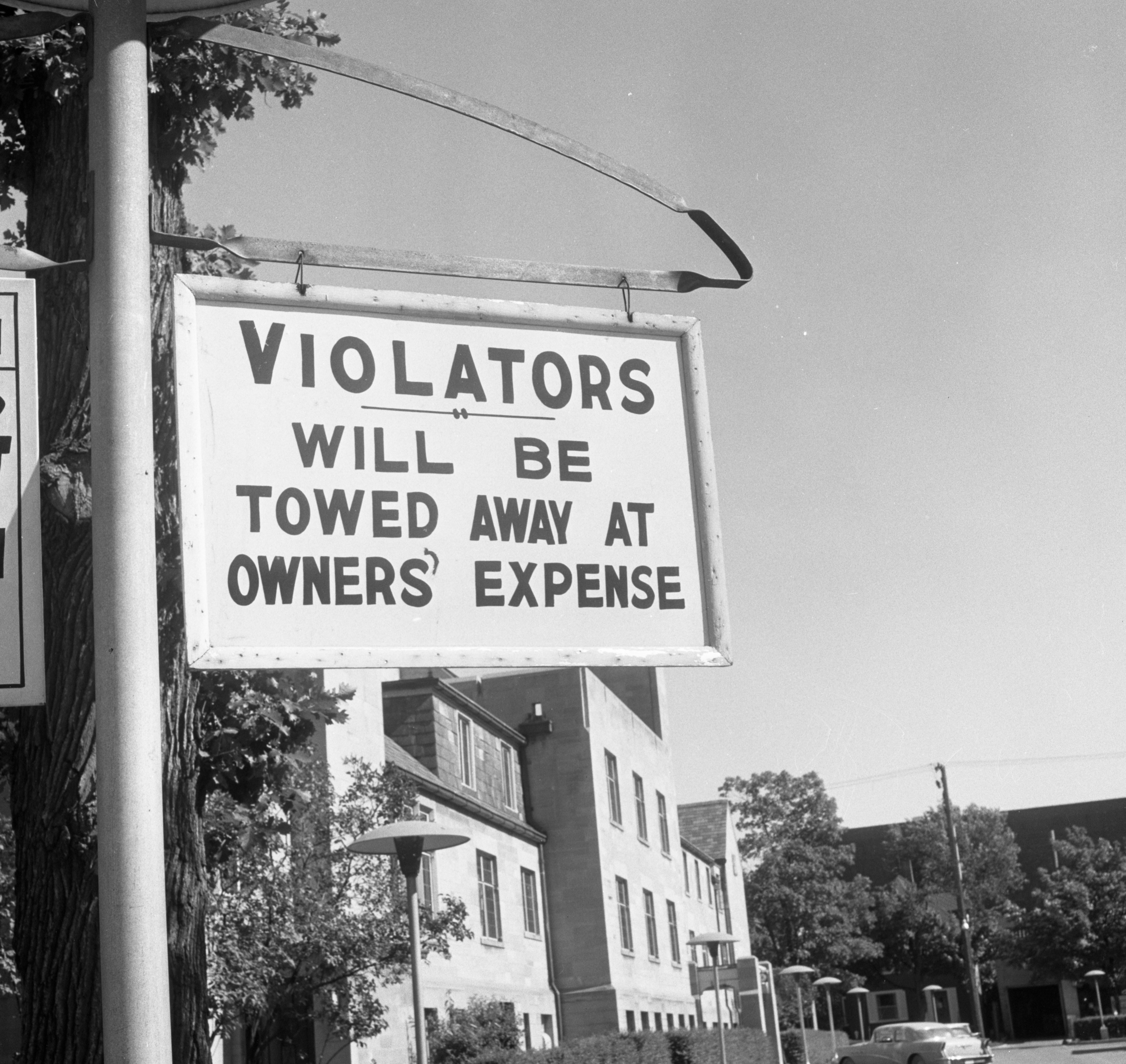 Sign in Parking Lot of First Methodist Church, July 1962 image