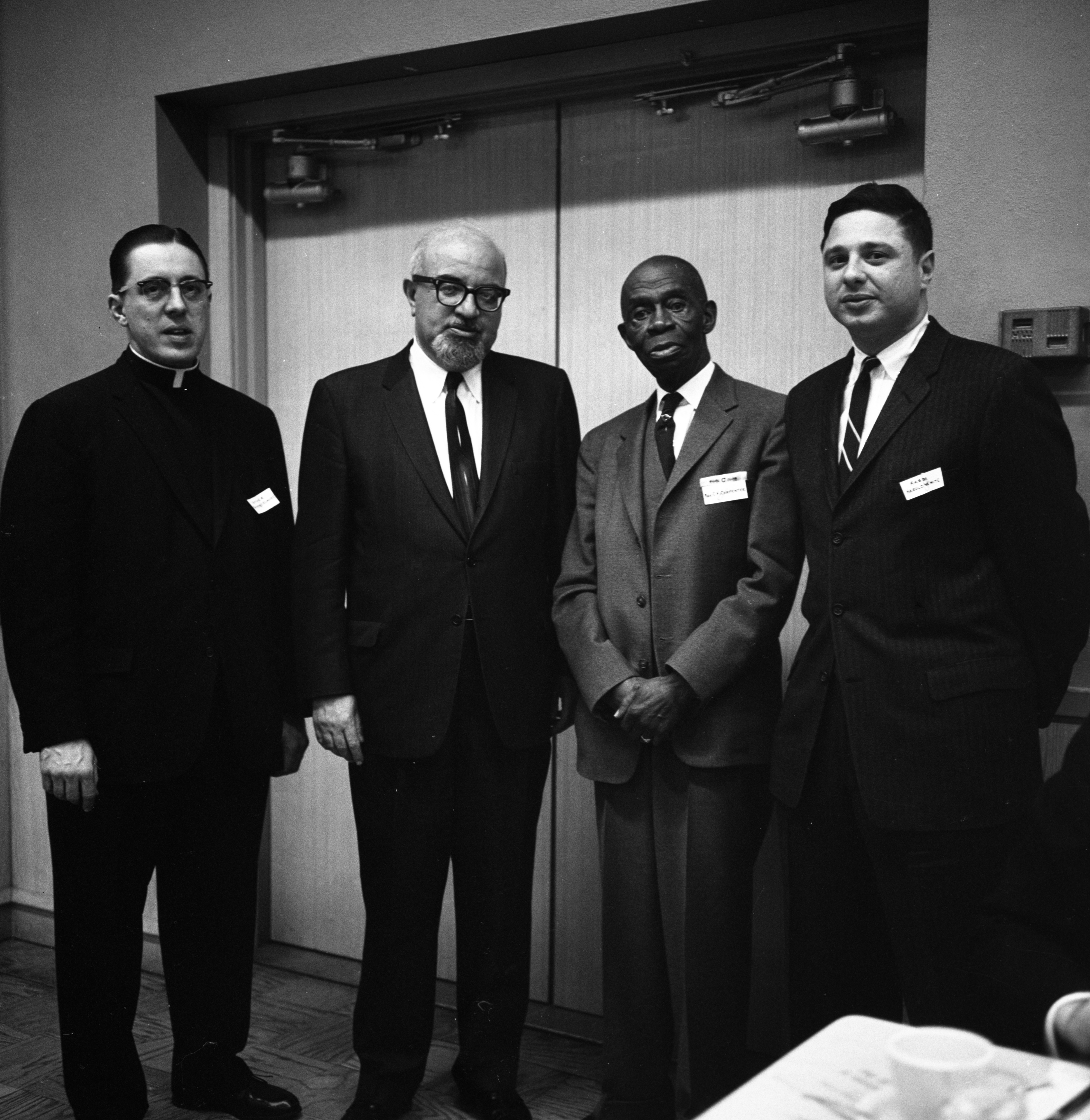 Four Theologians at Brotherhood Night, April 1963 image
