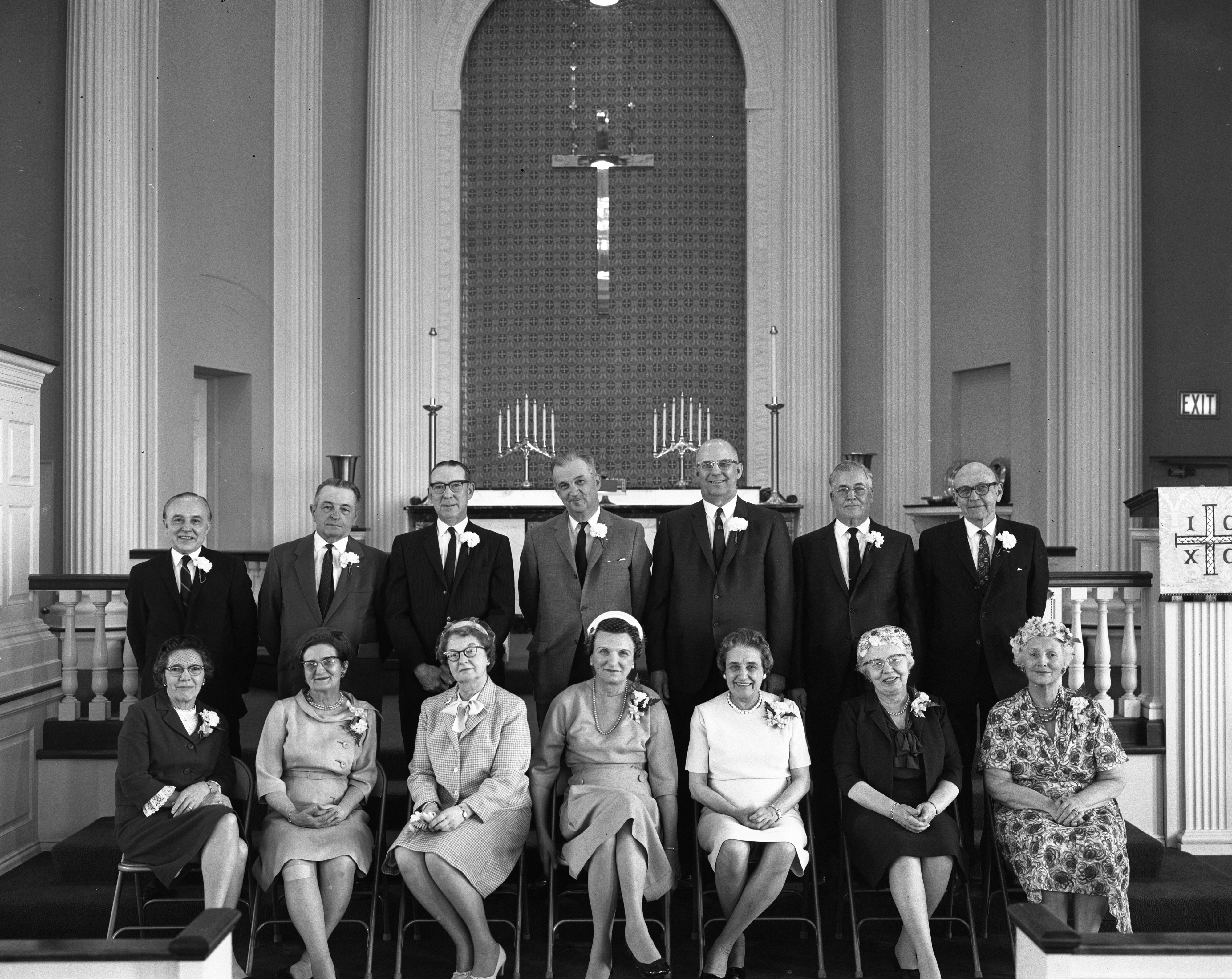 Fiftieth Anniversary of Zion Lutheran Church Confirmation Class of 1916, April 1966 image