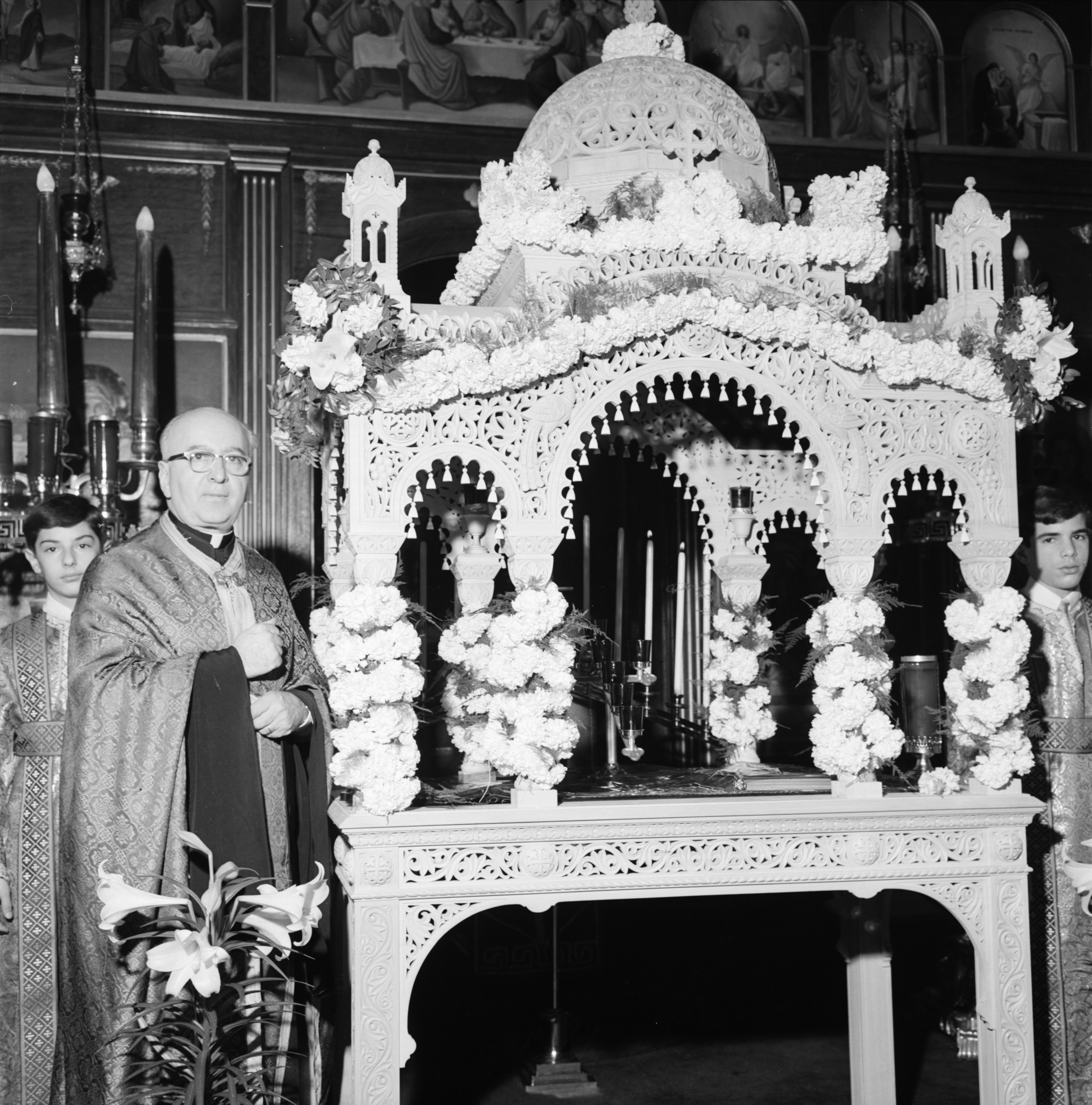 New Altar at St. Nicholas Greek Orthodox Church, April 1966 image