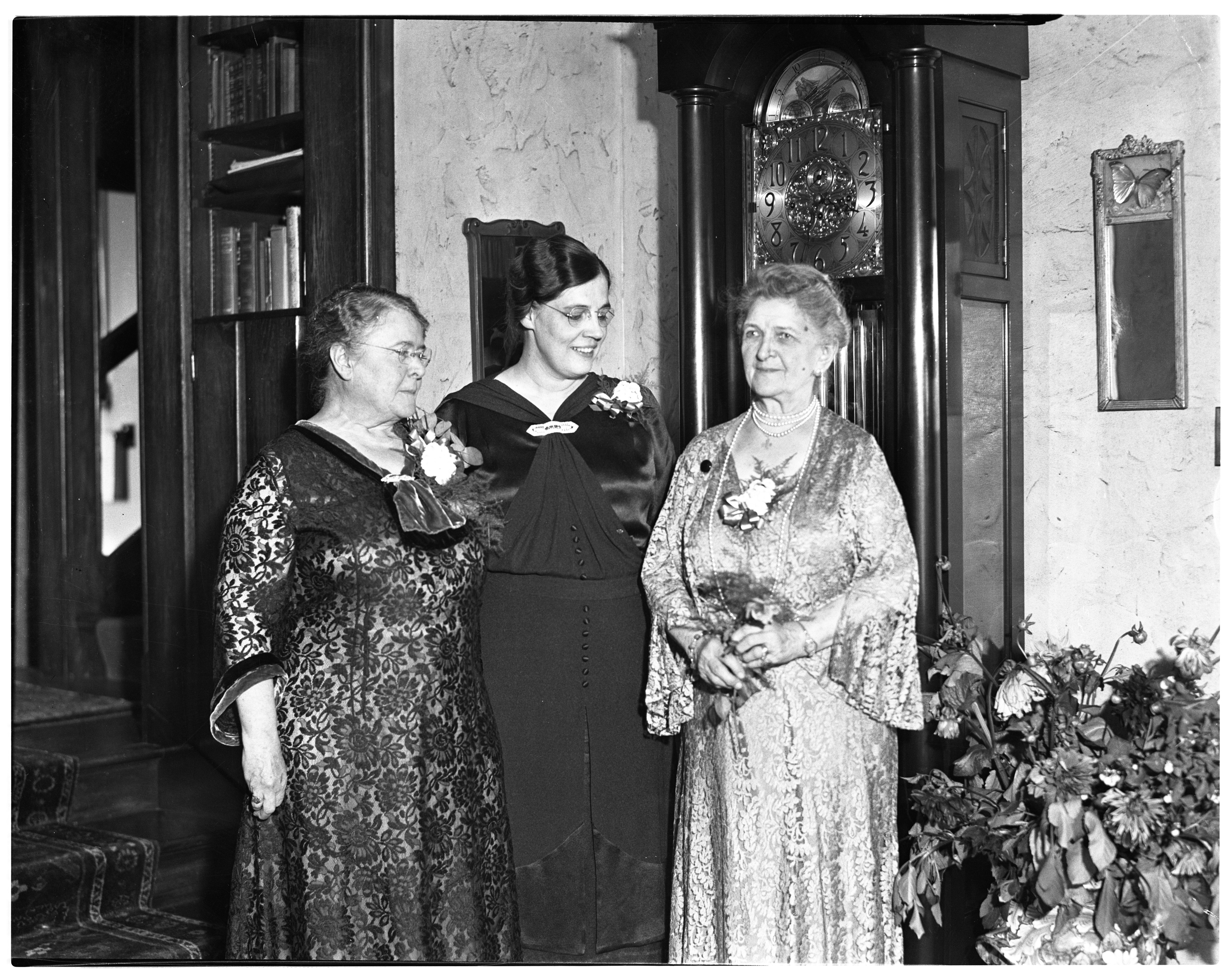 Mrs. Morris W. Leibert, Visitor Here Is Feted At Graystones, October 2, 1936 image