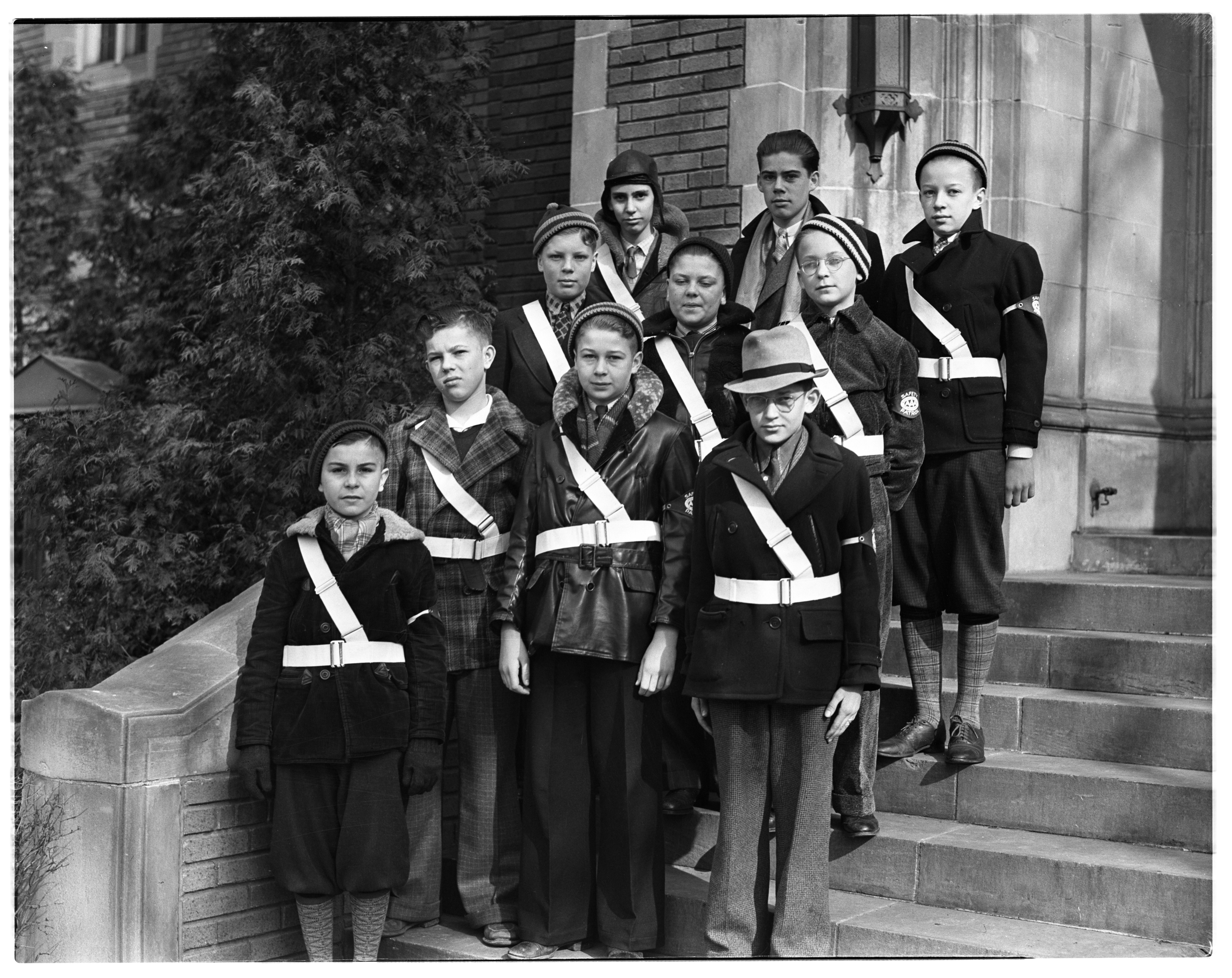 St. Paul's Lutheran Church Safety Patrol, April 1937 image