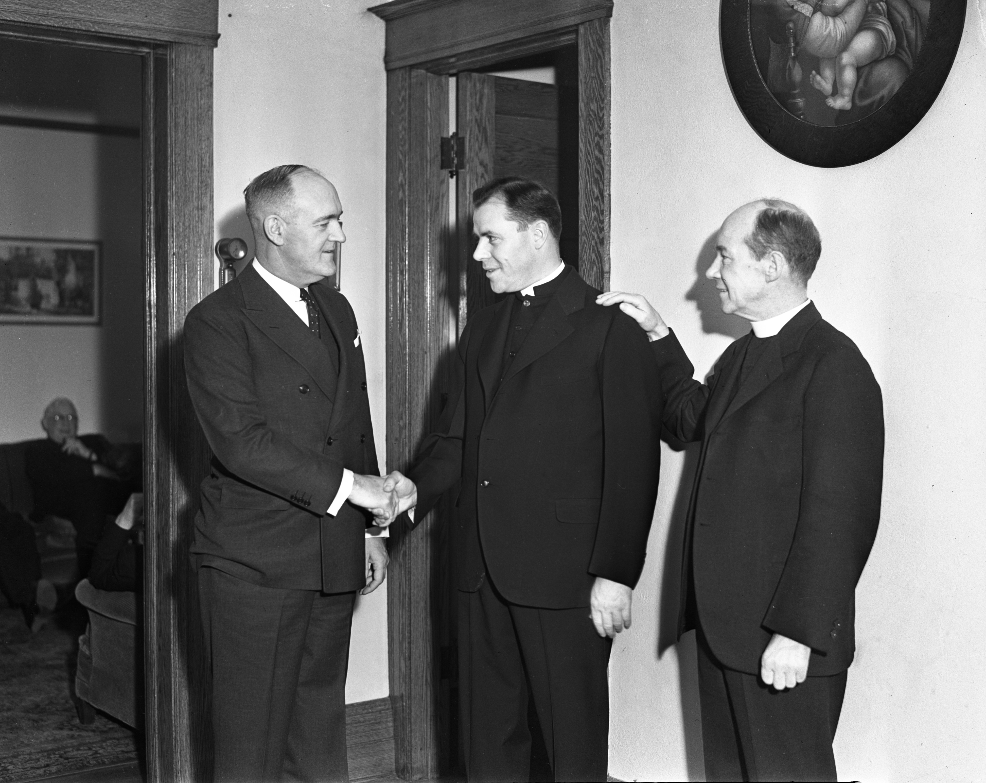 Father Allen J. Babcock's Farewell, January 1937 image