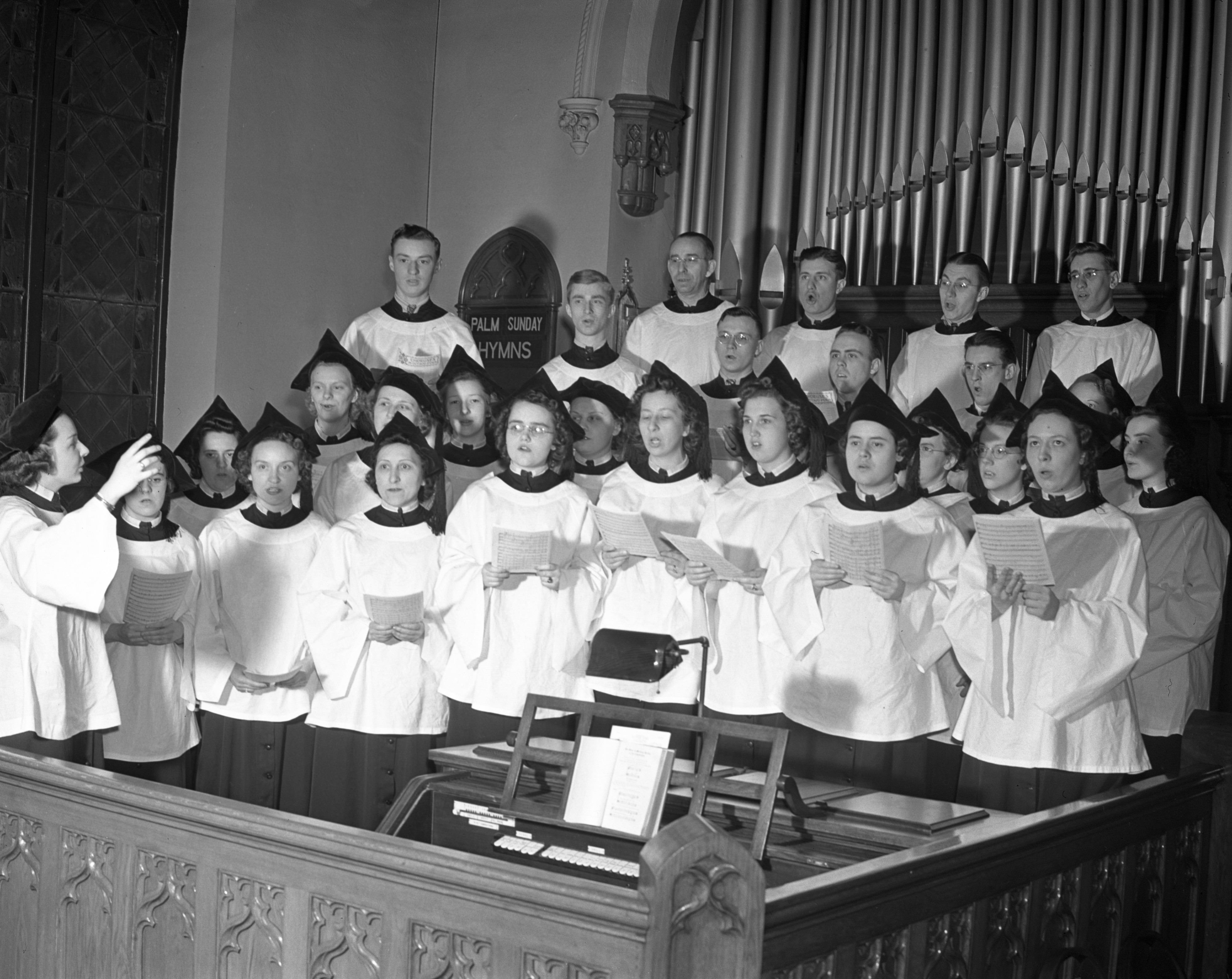 Zion Church Choir, March 1940 image