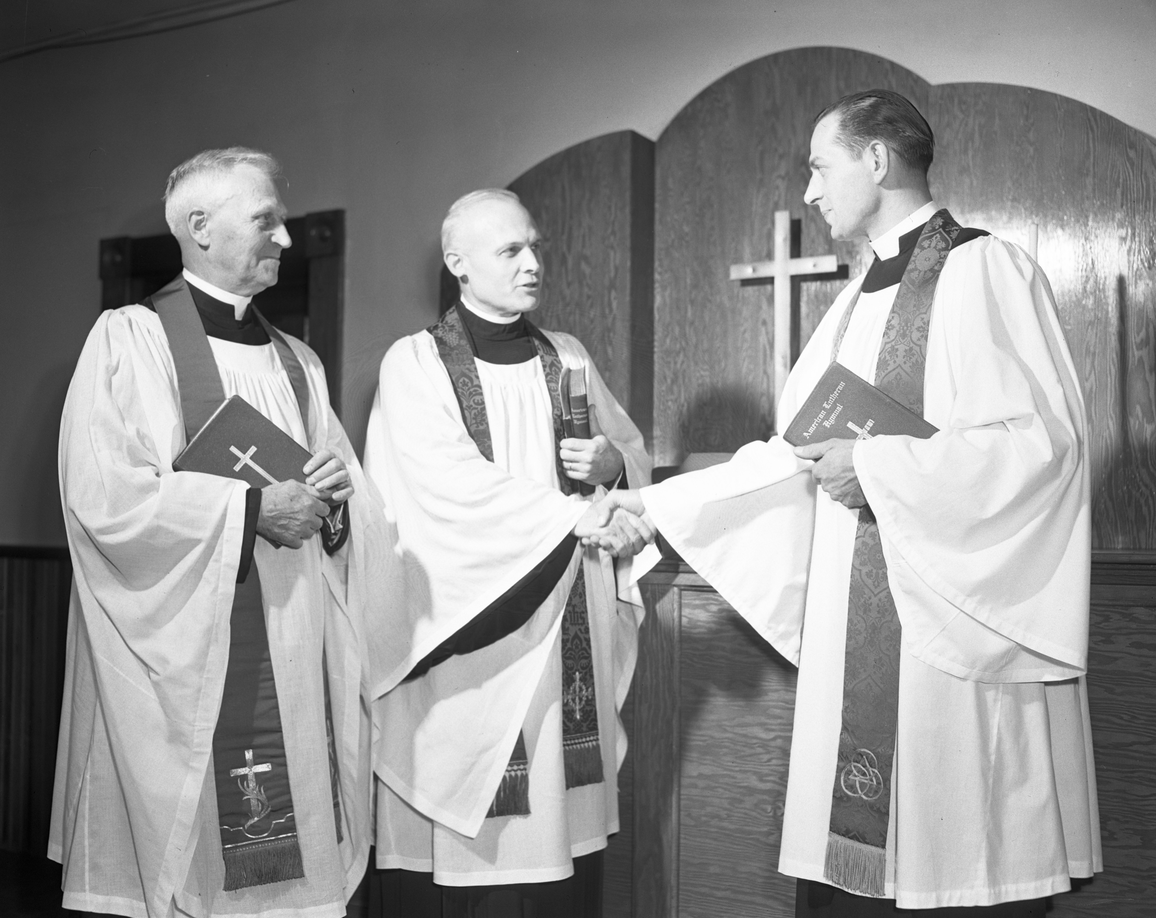 Rev. Howard F. Yeager Installed, Zion Evangelical Lutheran Church, October 1947 image